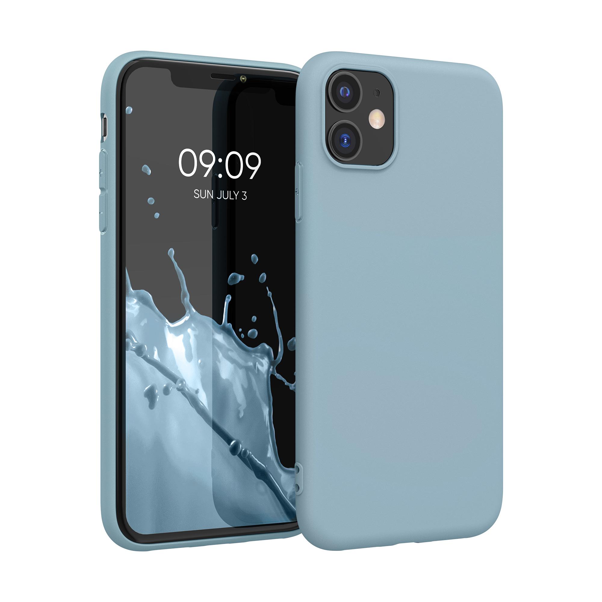 Kvalitní silikonové TPU pouzdro pro Apple iPhone 11 - kámen Modrá