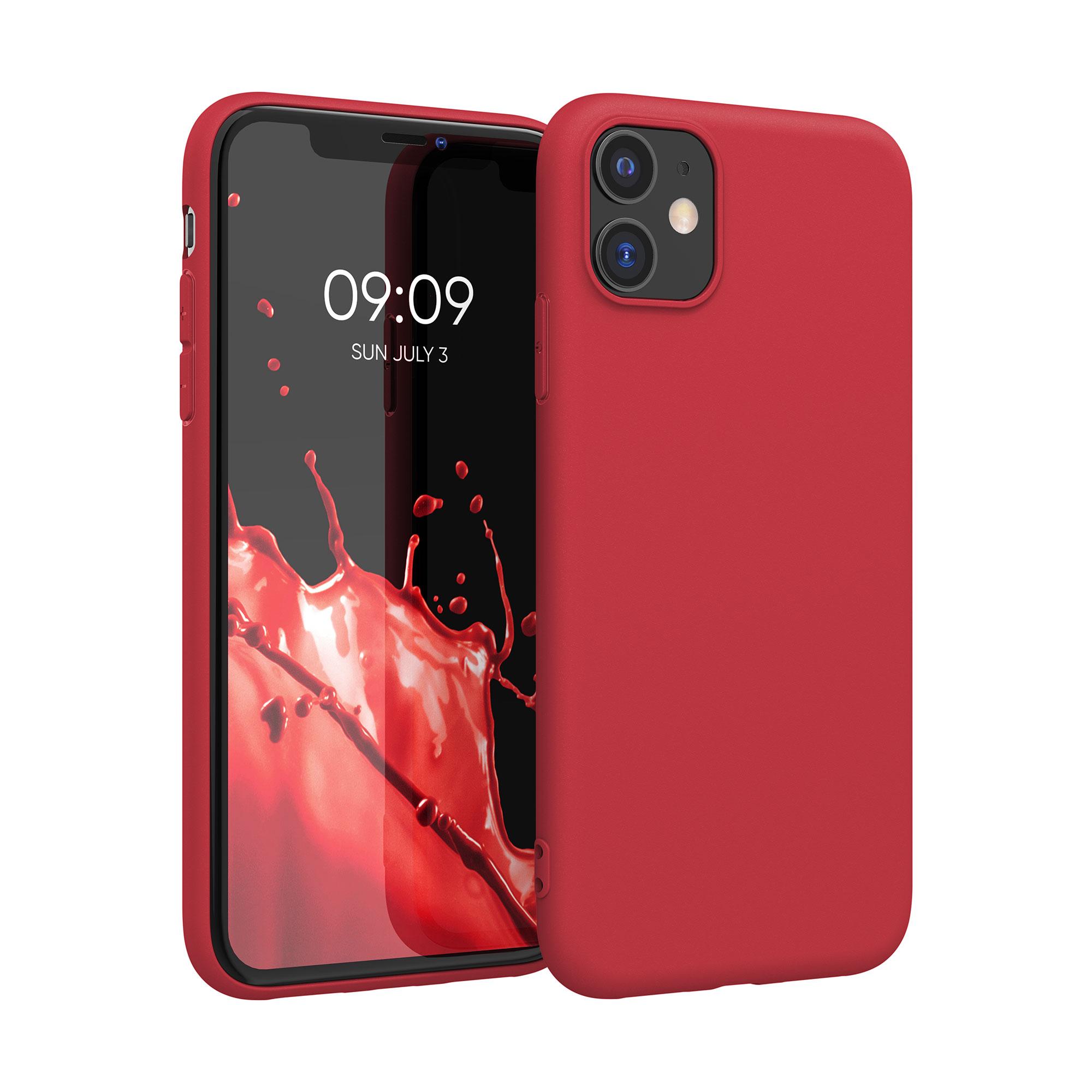 Kvalitní silikonové TPU pouzdro pro Apple iPhone 11 - Rococo Red