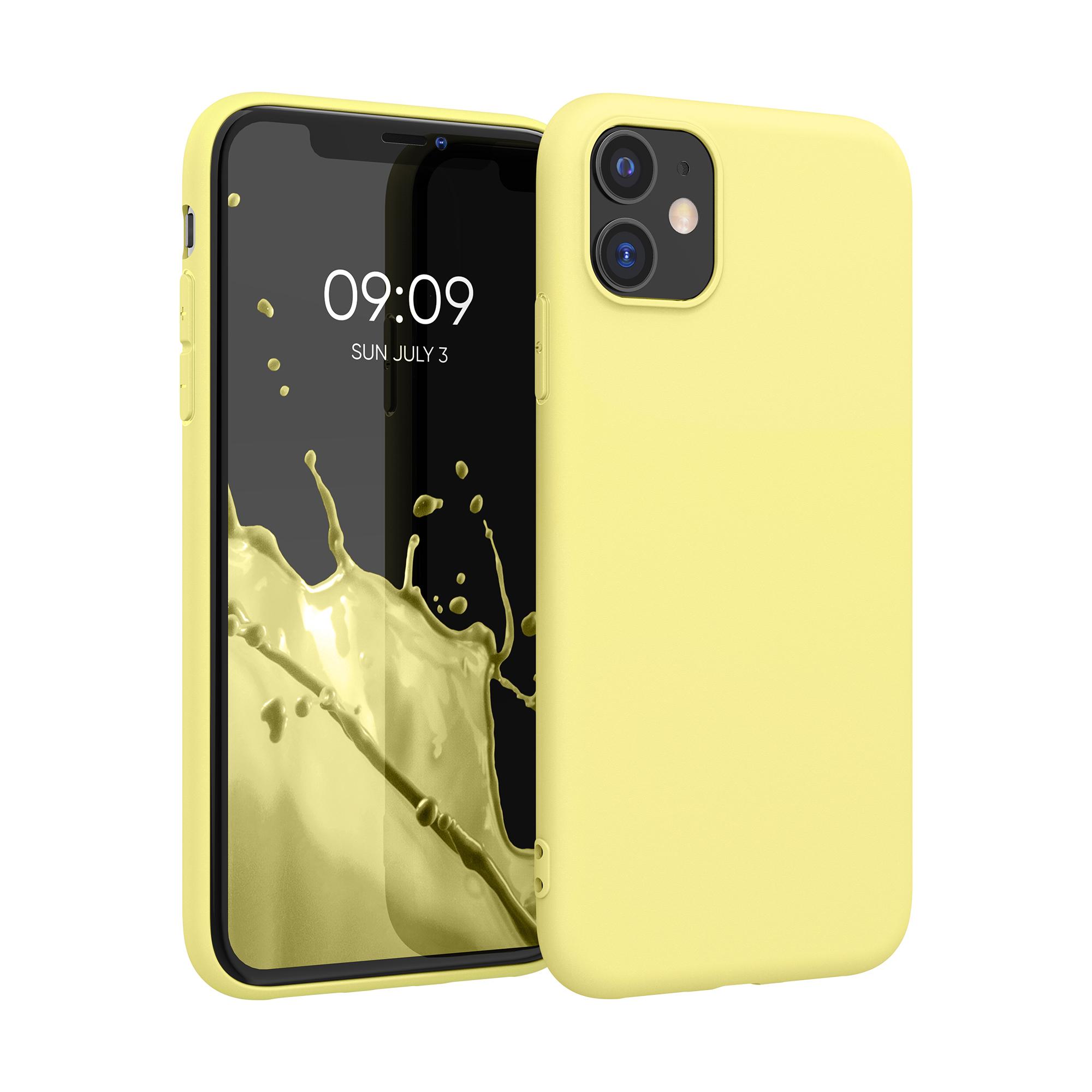 Kvalitní silikonové TPU pouzdro pro Apple iPhone 11 - Yellow Matte