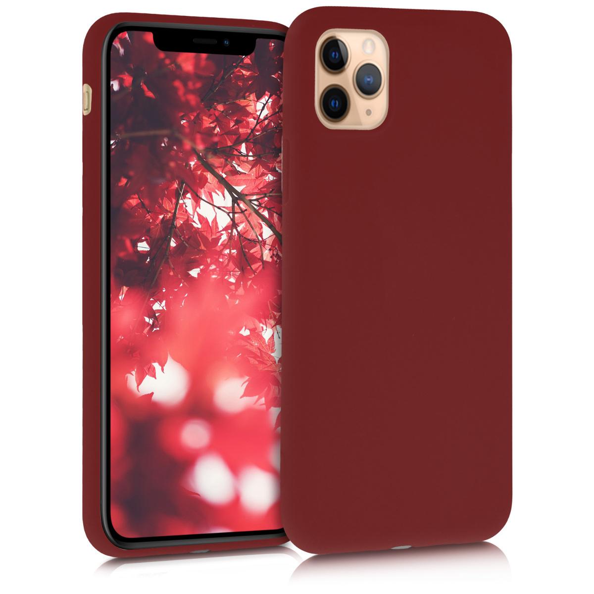 Kvalitní silikonové TPU pouzdro pro Apple iPhone 11 Pro - Red Matte