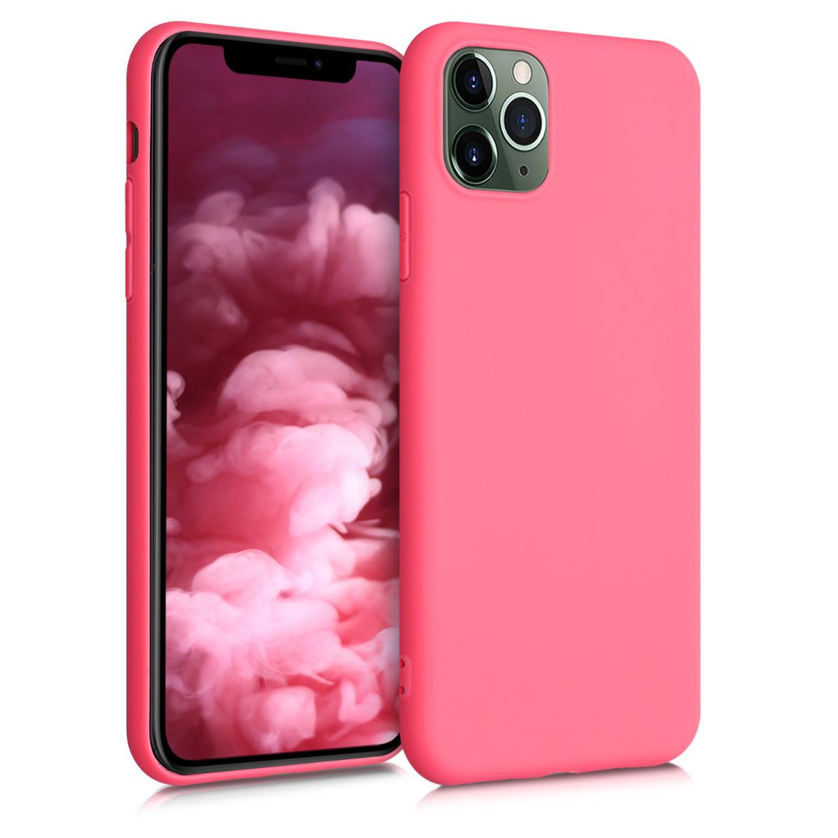 Kvalitní silikonové TPU pouzdro pro Apple iPhone 11 Pro Max - Neon Coral Matte