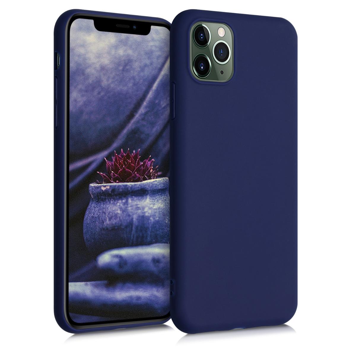 Kvalitní silikonové TPU pouzdro pro Apple iPhone 11 Pro Max - Hluboké modré moře