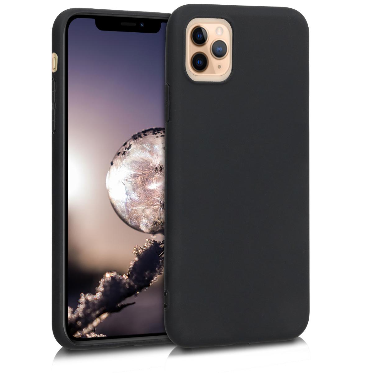 Kvalitní silikonové TPU pouzdro pro Apple iPhone 11 Pro Max - Black Matte