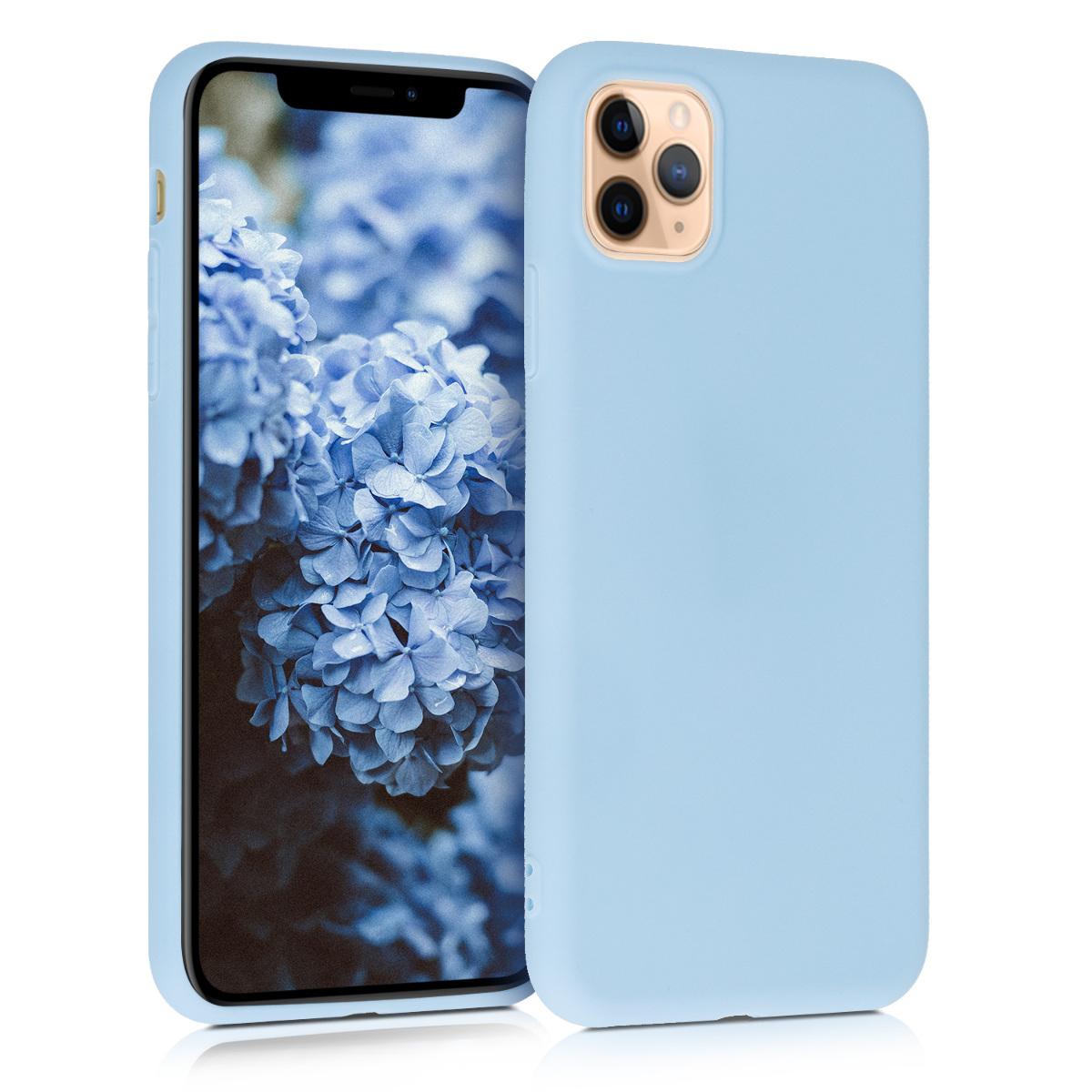 Kvalitní silikonové TPU pouzdro pro Apple iPhone 11 Pro Max - Light Blue Matte