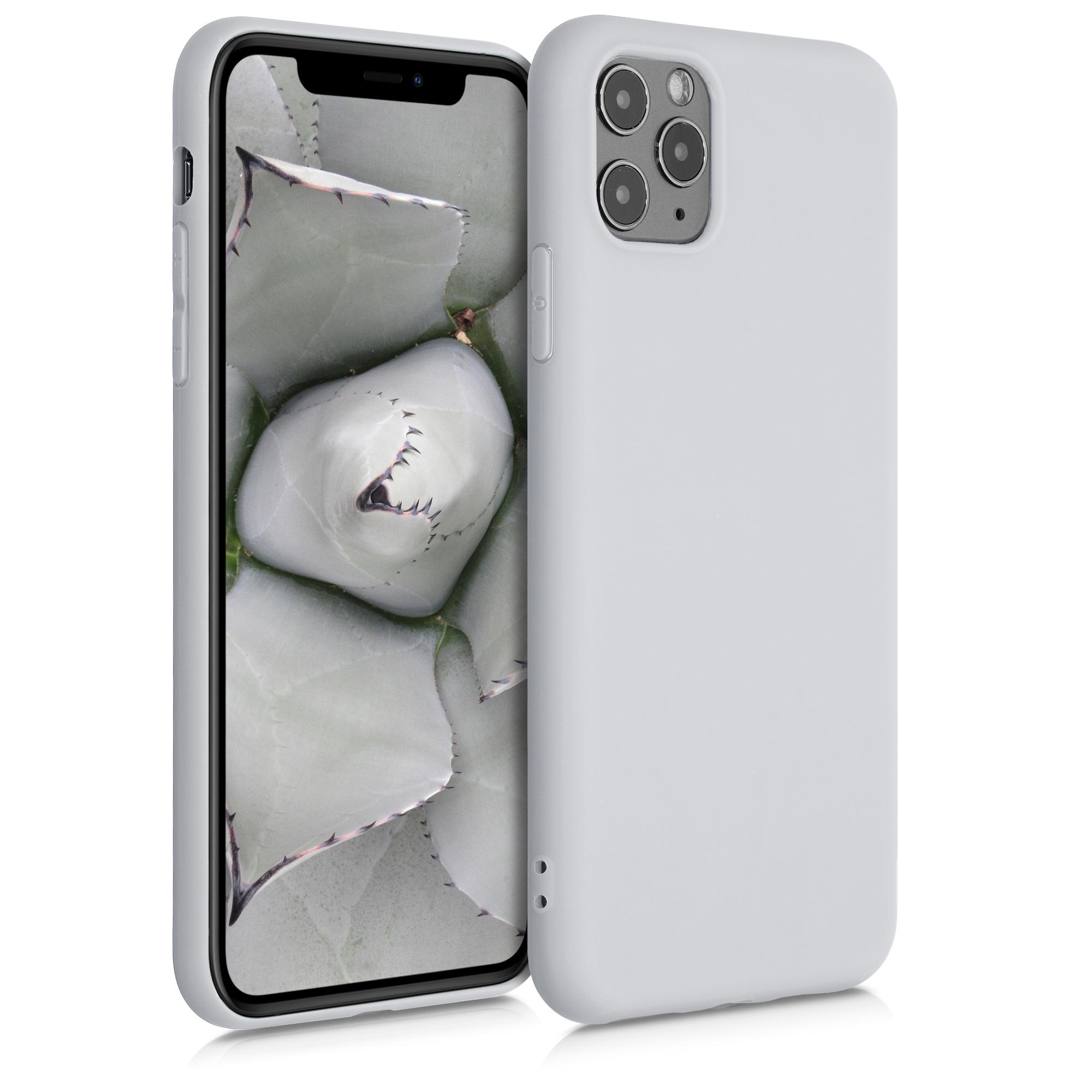 Kvalitní silikonové TPU pouzdro pro Apple iPhone 11 Pro Max - Světle šedá Matte