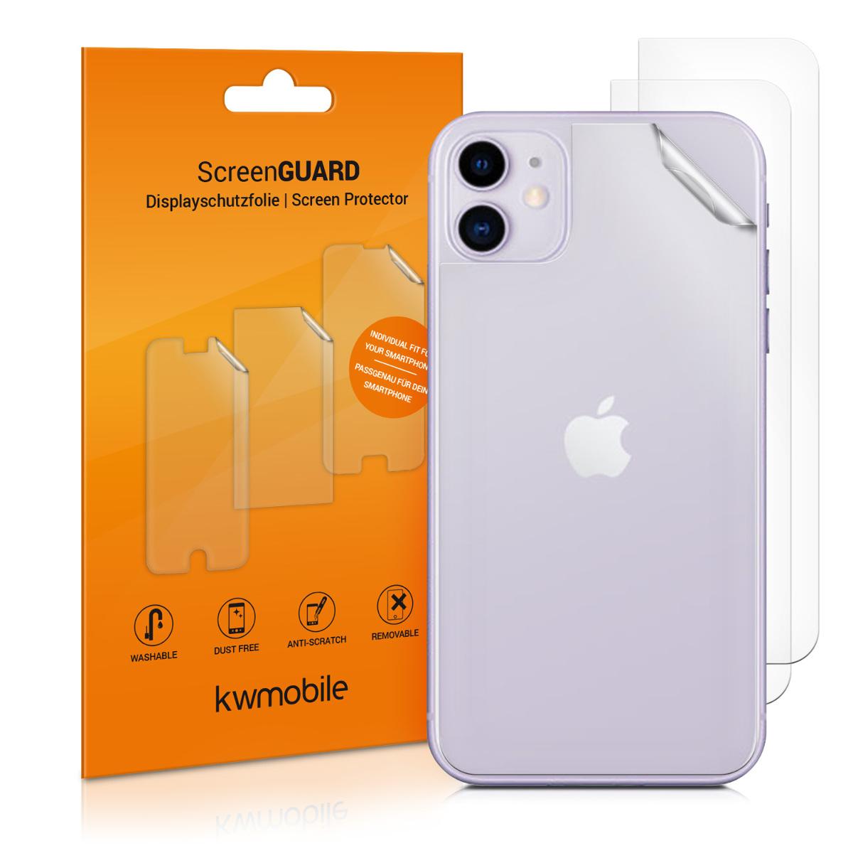 3x ochranná zadní fólie pro Apple iPhone 11