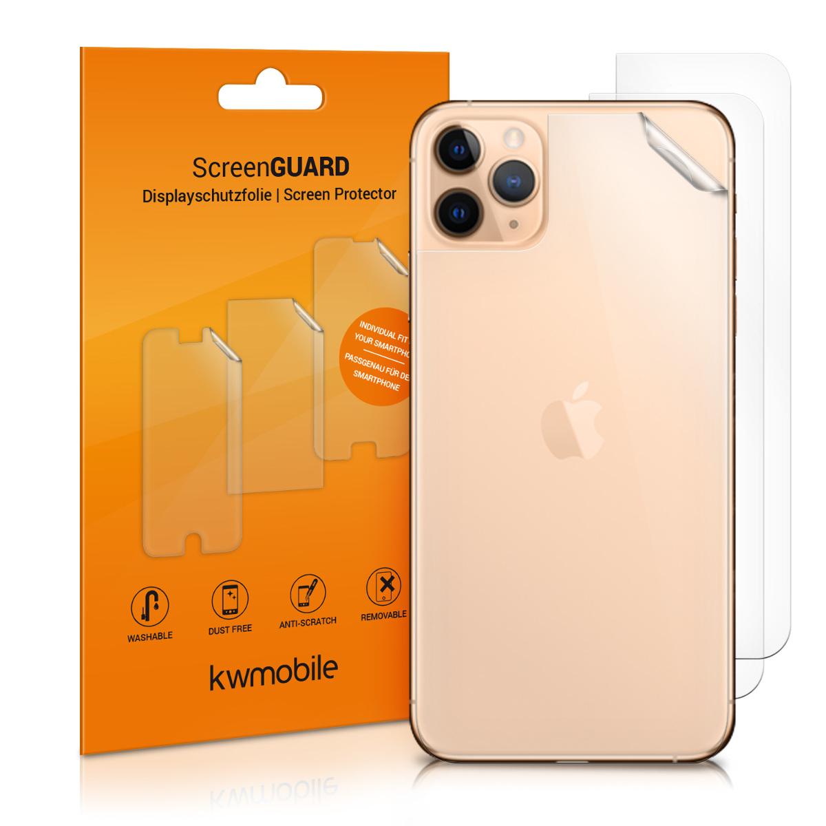 3x ochranná zadní fólie pro Apple iPhone 11 Pro Max