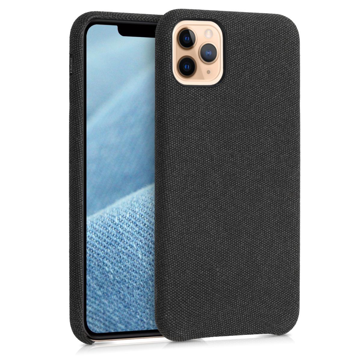 Černé textilní látkové pouzdro | obal pro Apple iPhone 11 Pro Max