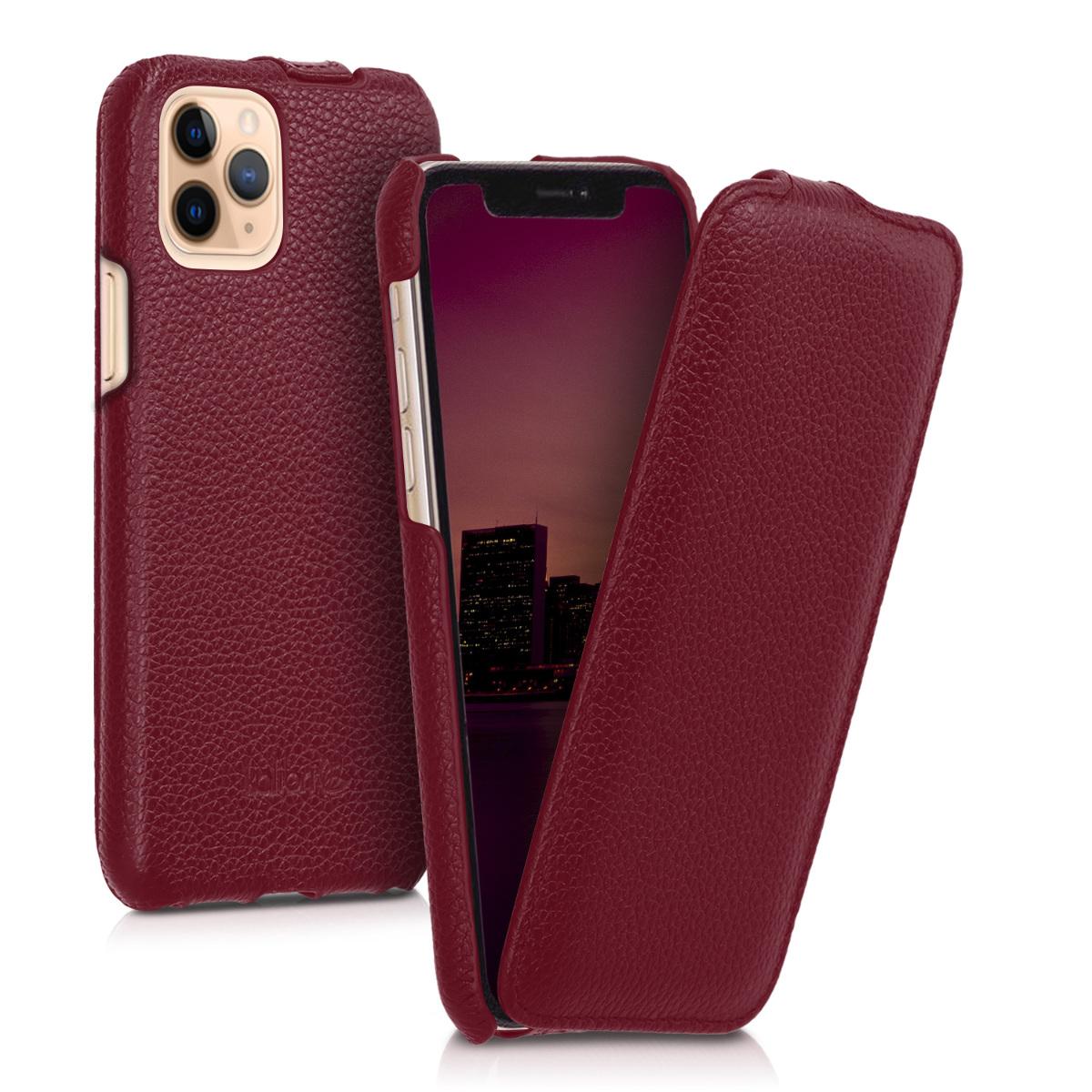 Kožené pouzdro pro Apple iPhone 11 Pro - Červené