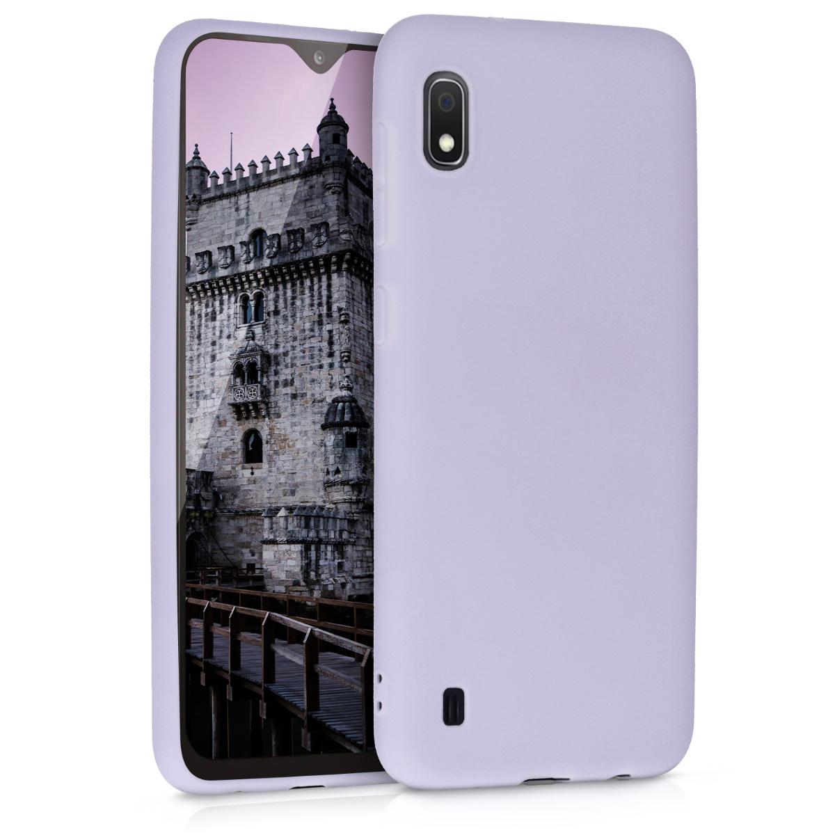 Kvalitní silikonové TPU pouzdro pro Samsung A10 - levandulové fialové