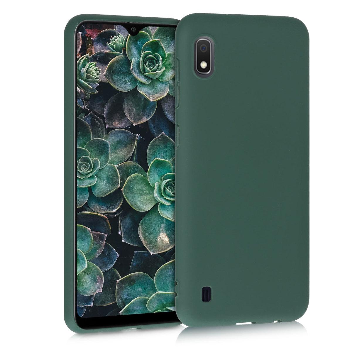 Kvalitní silikonové TPU pouzdro pro Samsung A10 - Moss zelené