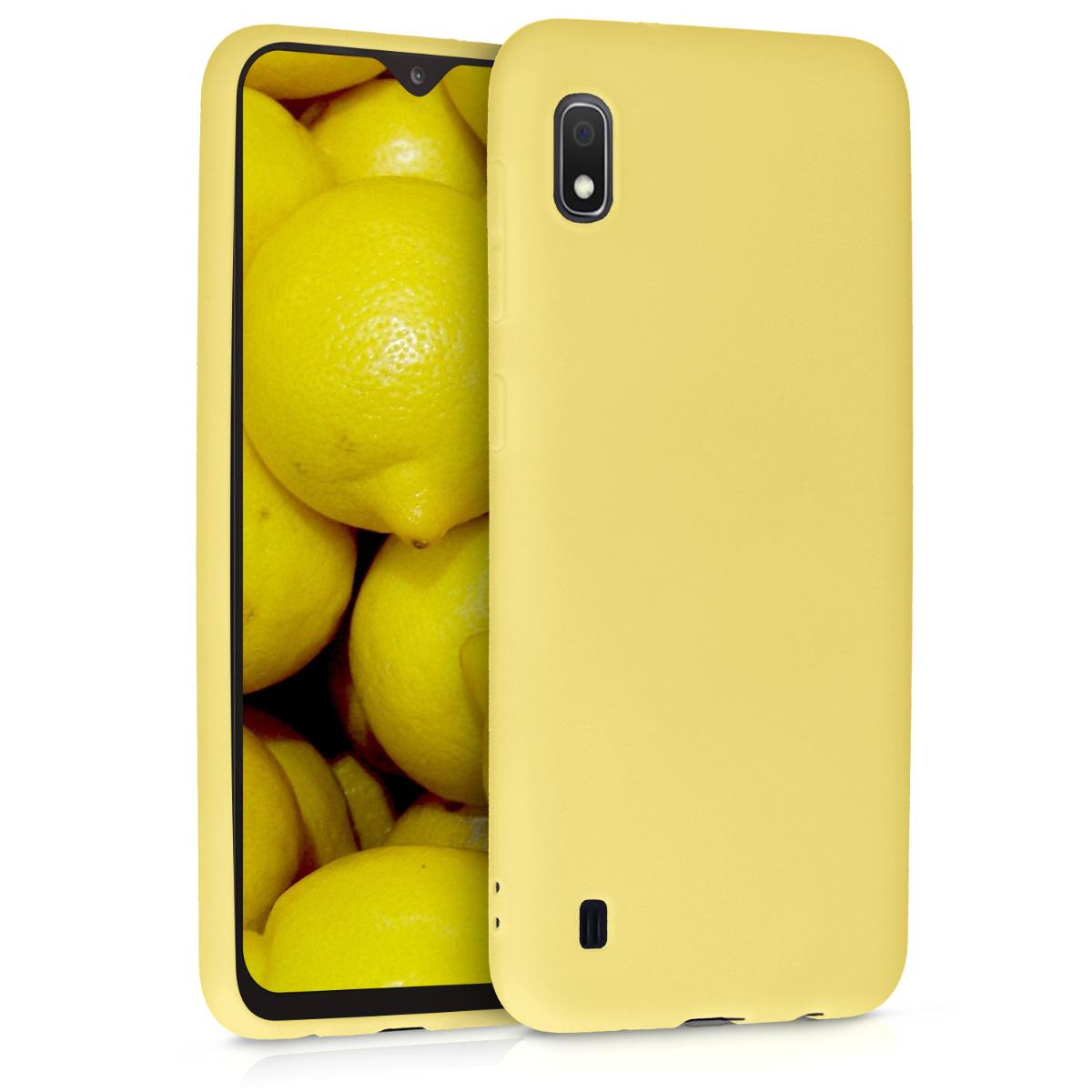 Kvalitní silikonové TPU pouzdro pro Samsung A10 - žluté matné