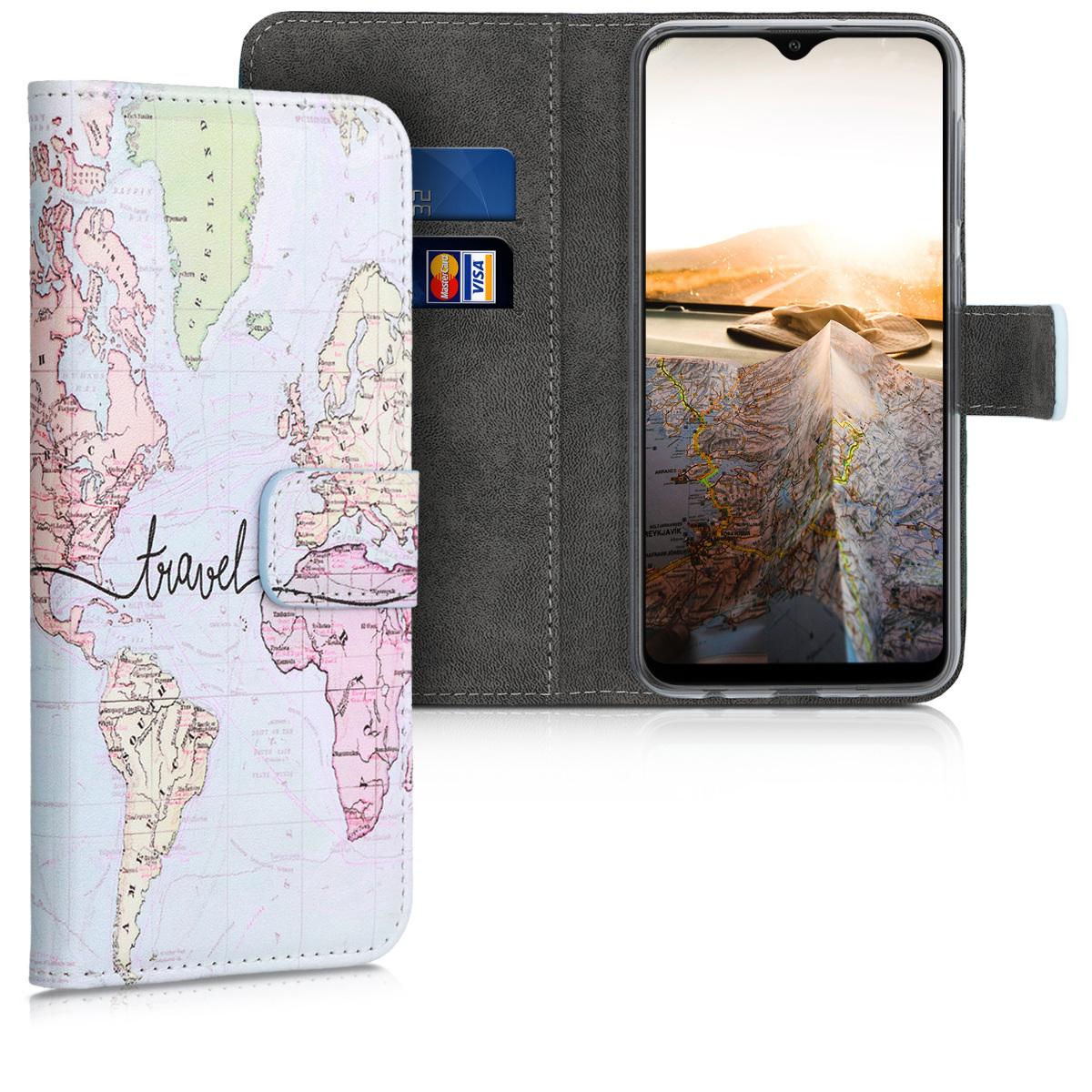Kožené pouzdro pro Samsung A10 - Travel černé / vícebarevná