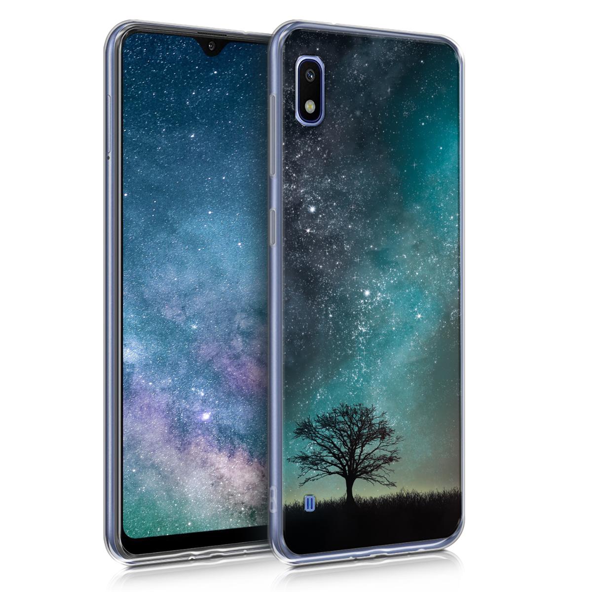 Kvalitní silikonové TPU pouzdro pro Samsung A10 - kosmické přírodní modré / šedé / černé