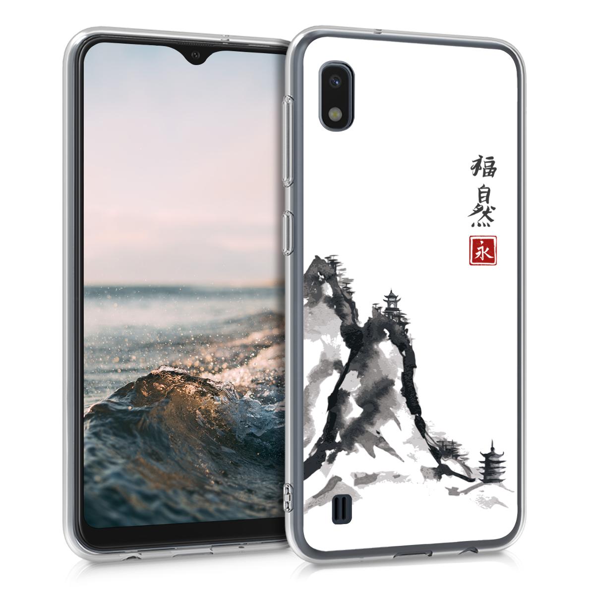 Kvalitní silikonové TPU pouzdro pro Samsung A10 - Klasický čínský červené / černé / bílé