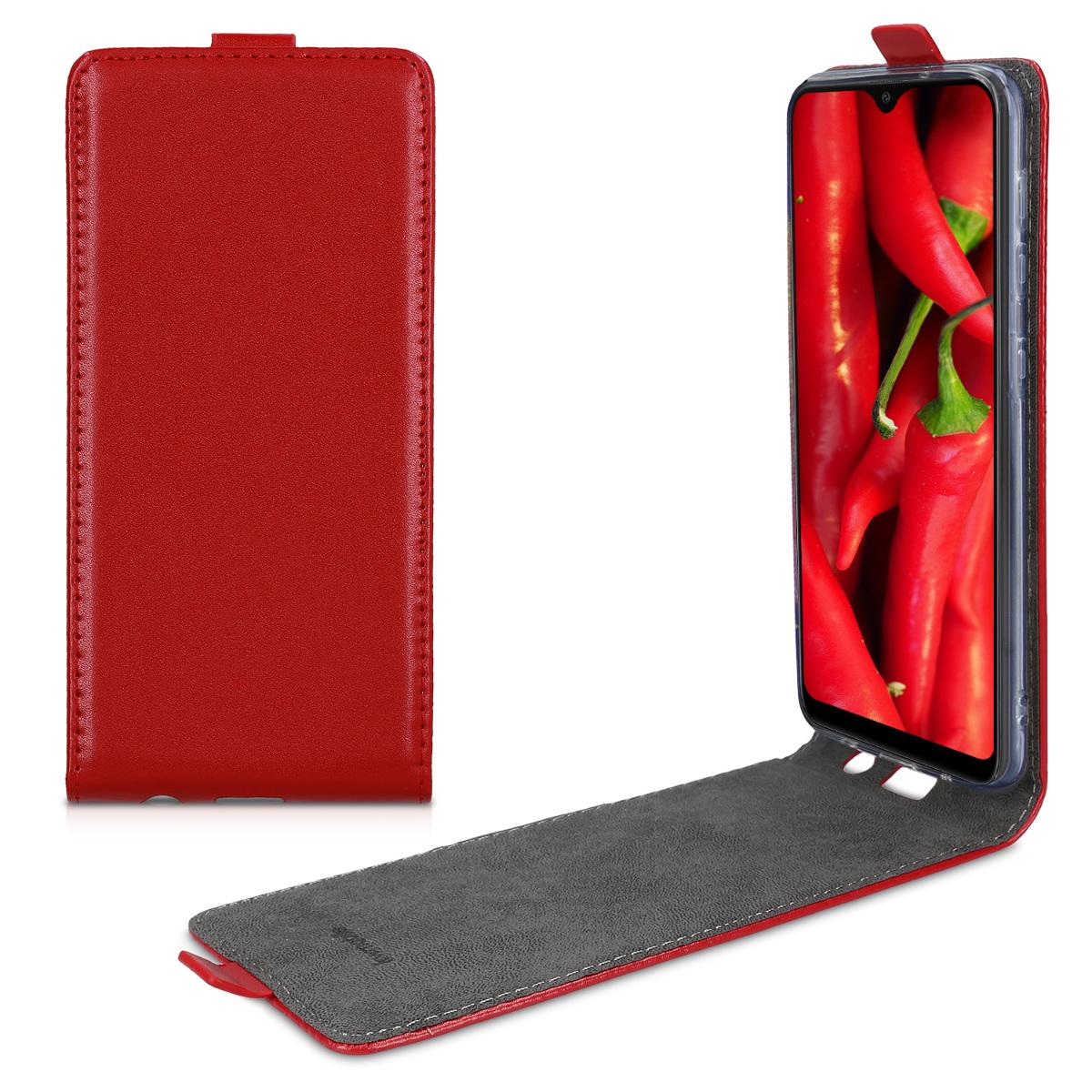 Kožené pouzdro pro Samsung A10 - červené