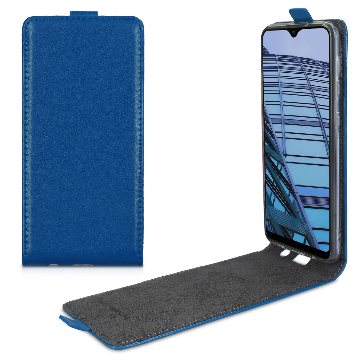 Kožené pouzdro pro Samsung A10 - tmavě modré