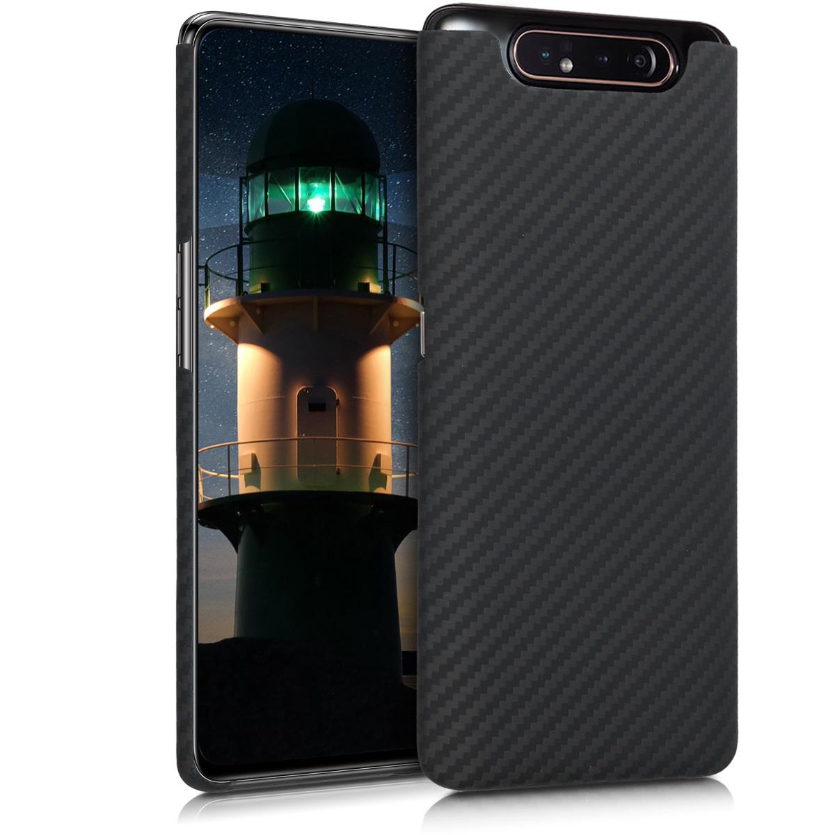 Aramidpouzdro pro Samsung A80 - černé matné