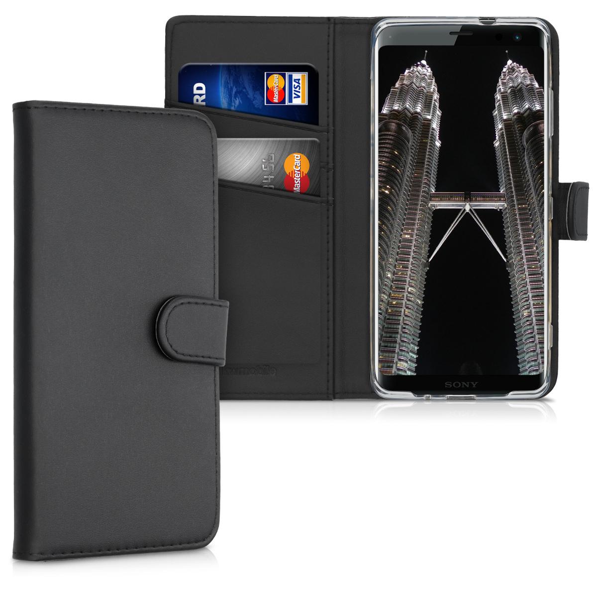 Kožené pouzdro | obal pro Sony Xperia XZ3 - černé