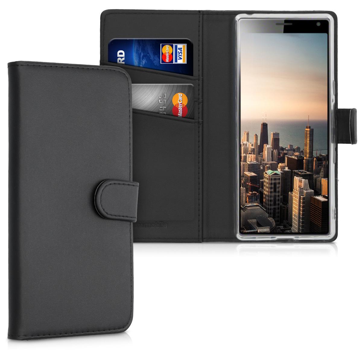 Kožené pouzdro | obal pro Sony Xperia 10 - černé