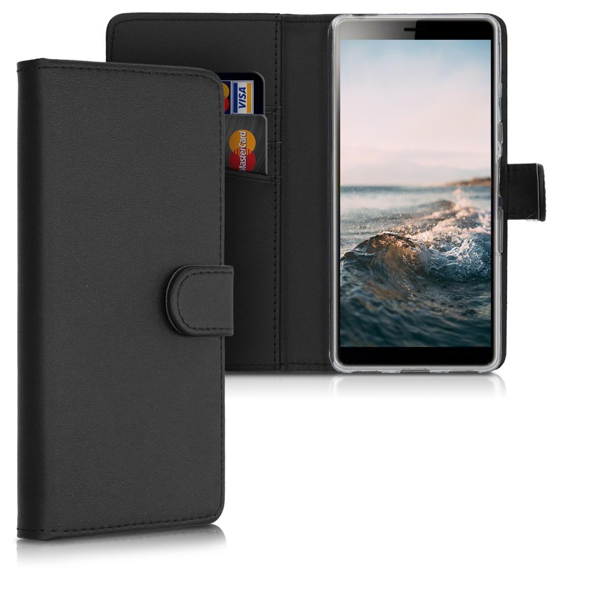 Kožené pouzdro | obal pro Sony Xperia L3 - černé