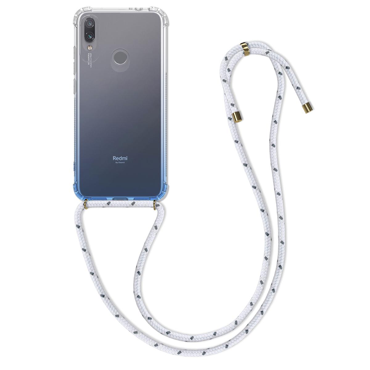 Kvalitní silikonové TPU pouzdro | obal pro Xiaomi Redmi Note 7 | Note 7 Pro - Bicolor světle modrý / transparentní