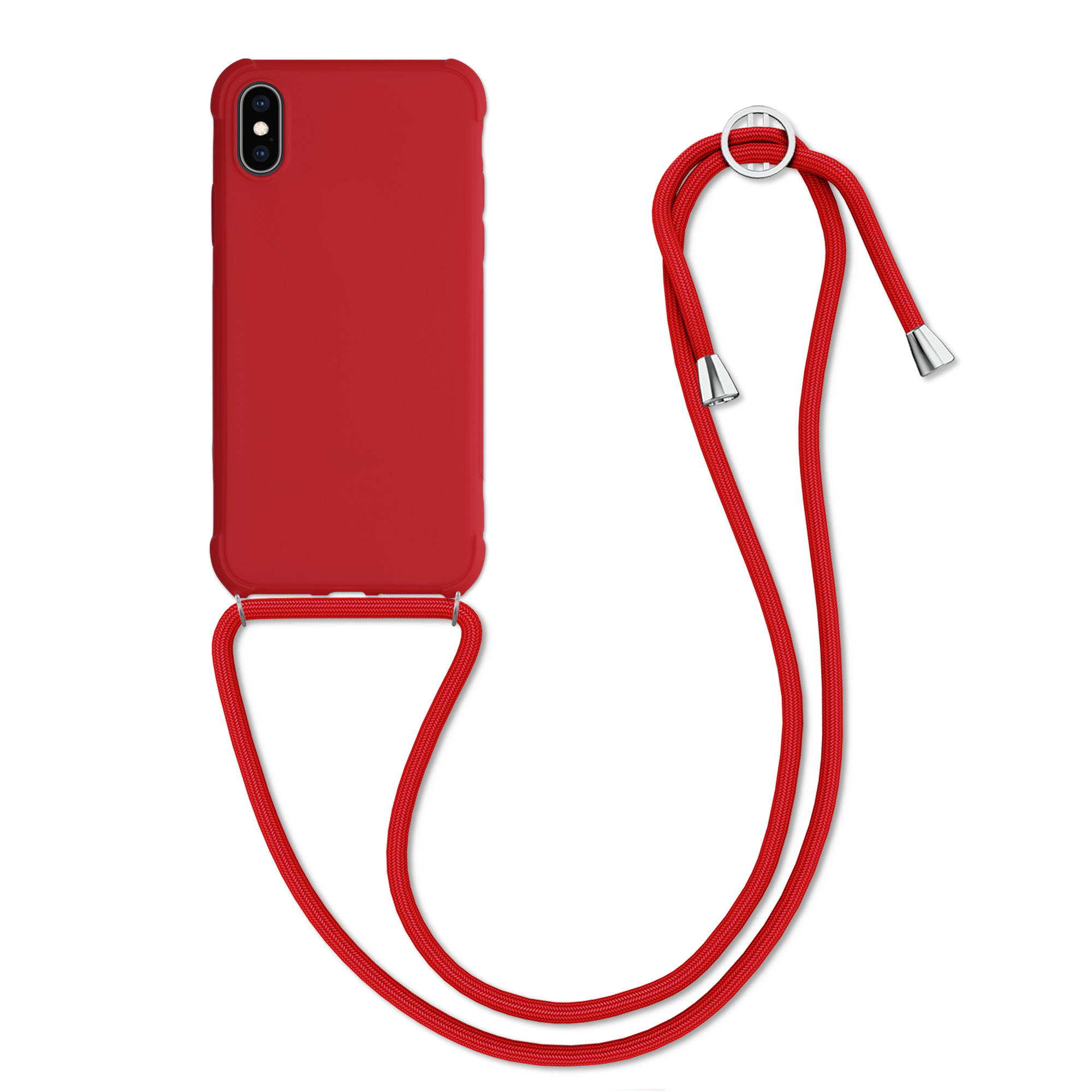MatteTPUpouzdro pro Apple iPhone X - Červené