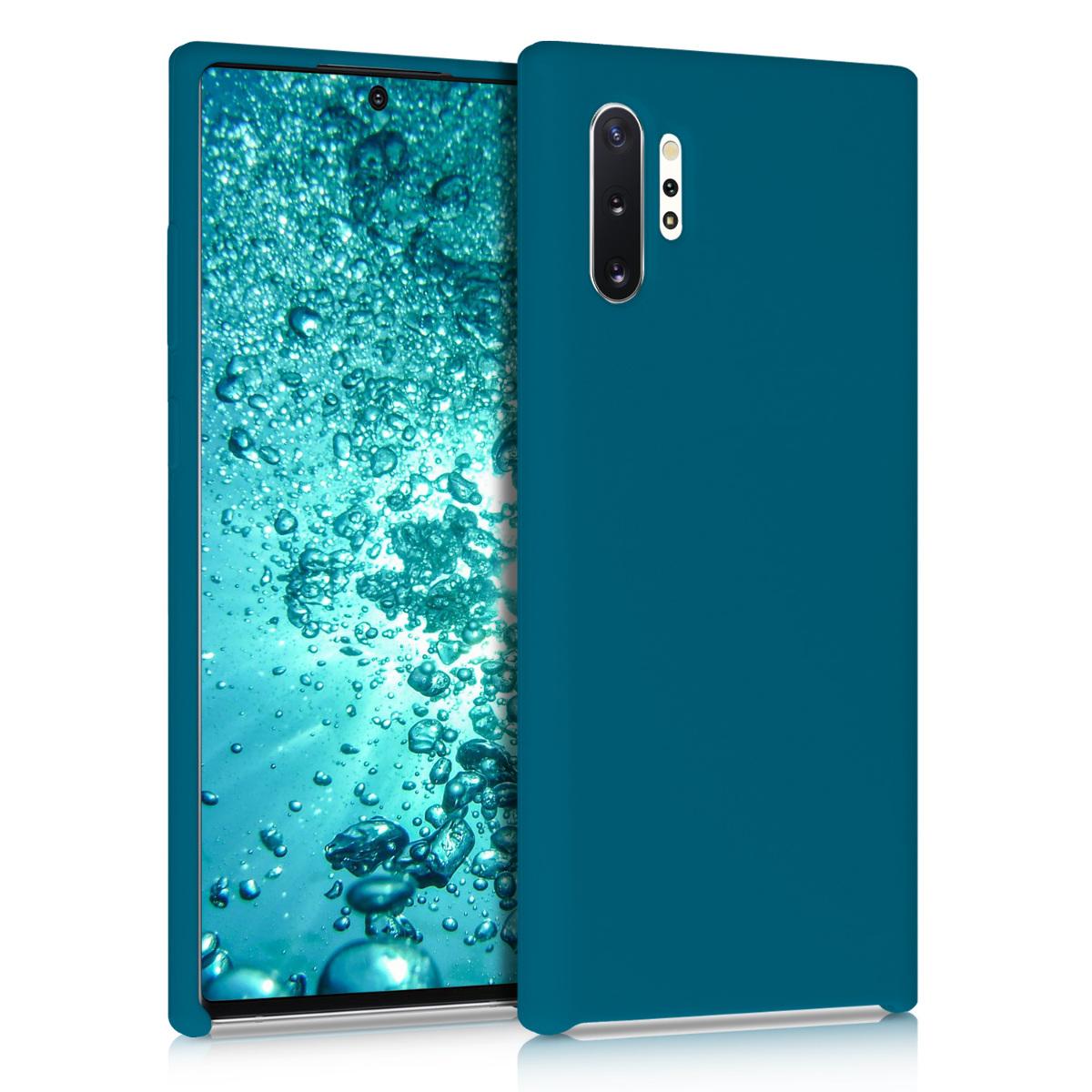 Kvalitní silikonové TPU pouzdro pro Samsung Note 10 Plus - Teal matné