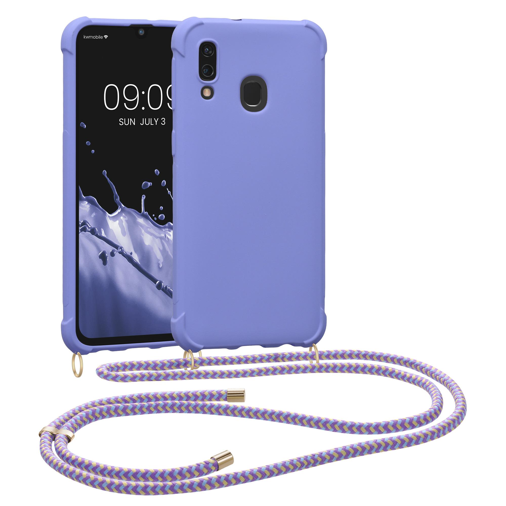 matnéTPUpouzdro pro Samsung A40 - levandulové fialové