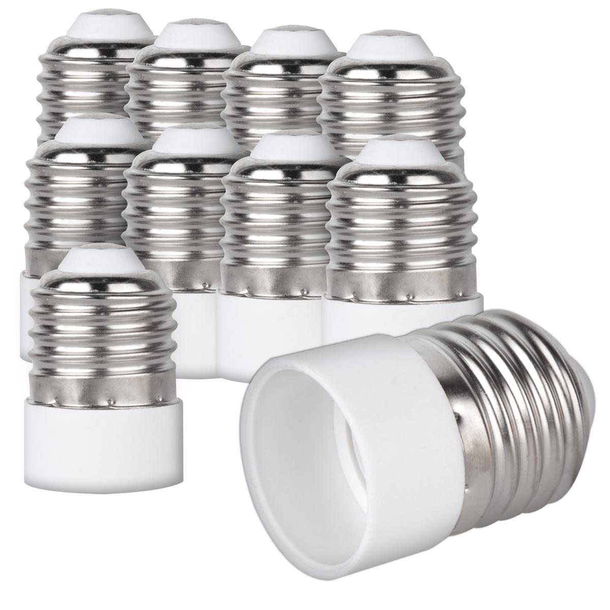 Energiespar Lampen Halogen- kwmobile 4x Lampensockel Adapter Konverter E27 Fassung auf E14 Lampensockel f/ür LED-