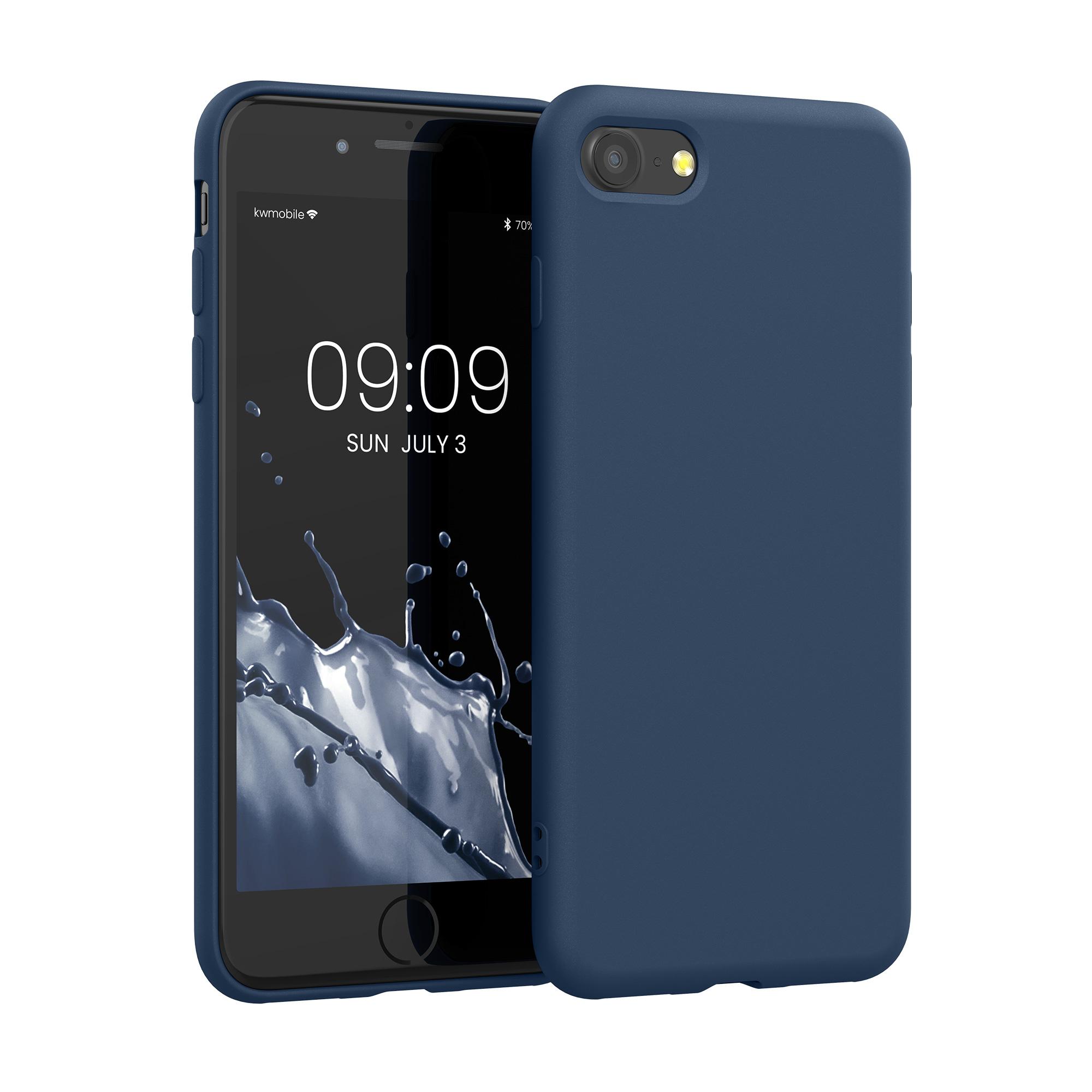 Kvalitní silikonové TPU pouzdro pro Apple iPhone 7 / 8 / SE  - Tmavě modrá