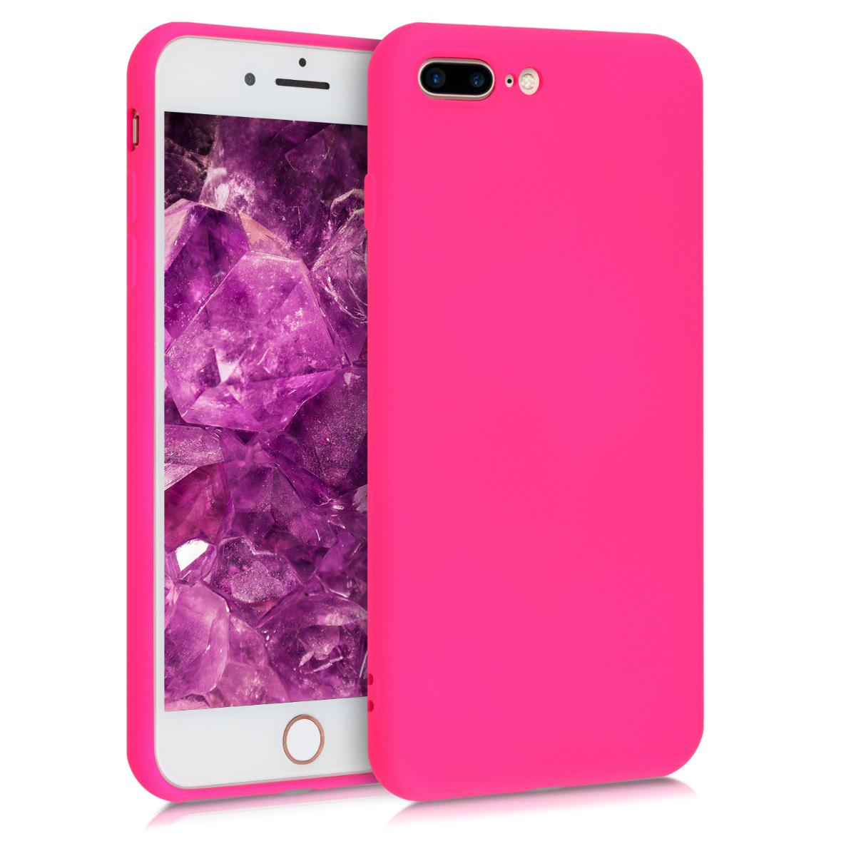 AKCE! Kvalitní silikonové TPU pouzdro pro Apple iPhone 7 Plus / 8  - Neon Pink