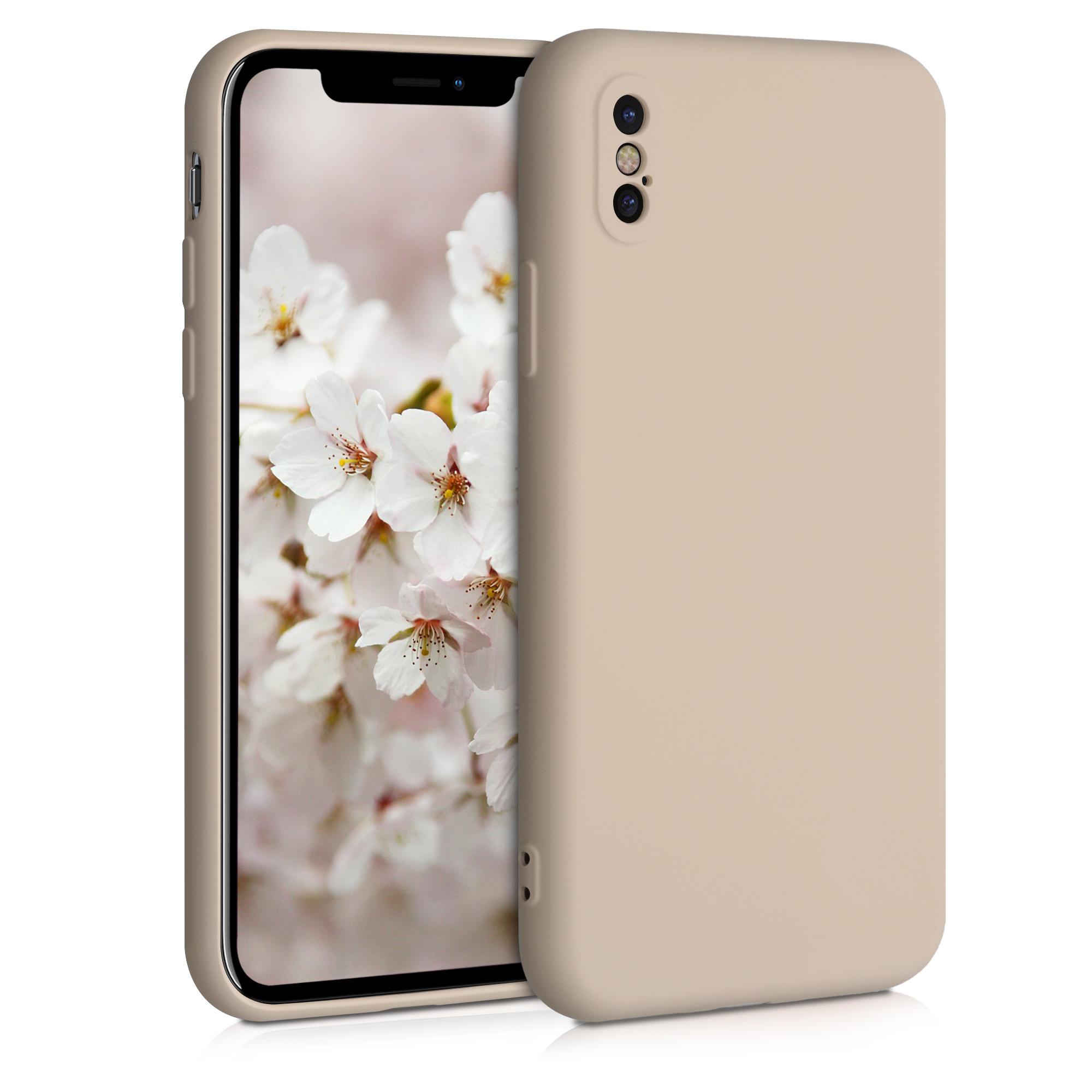 Kvalitní silikonové TPU pouzdro pro Apple iPhone X - Dusty Pink