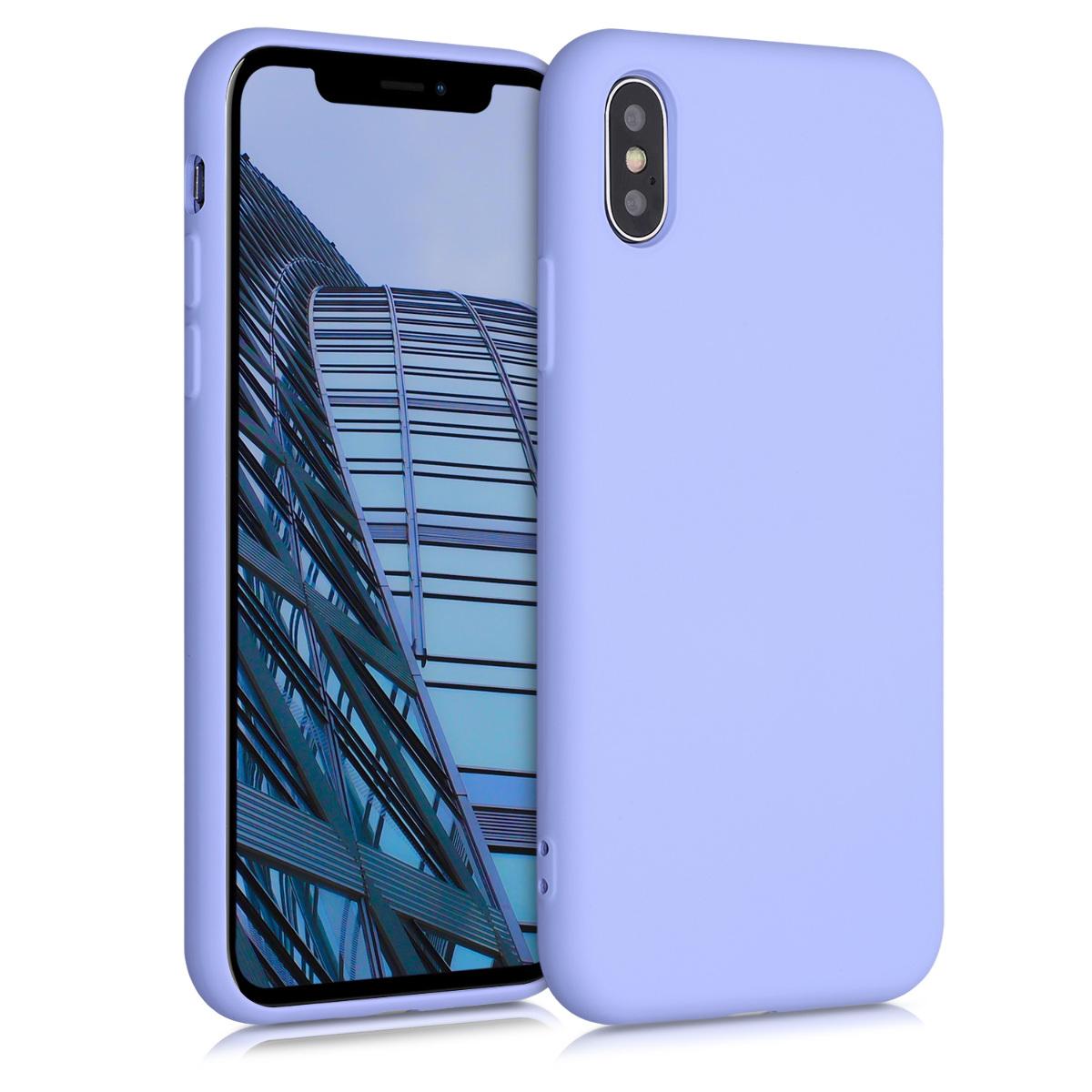 Kvalitní silikonové TPU pouzdro pro Apple iPhone X - Light Lavender