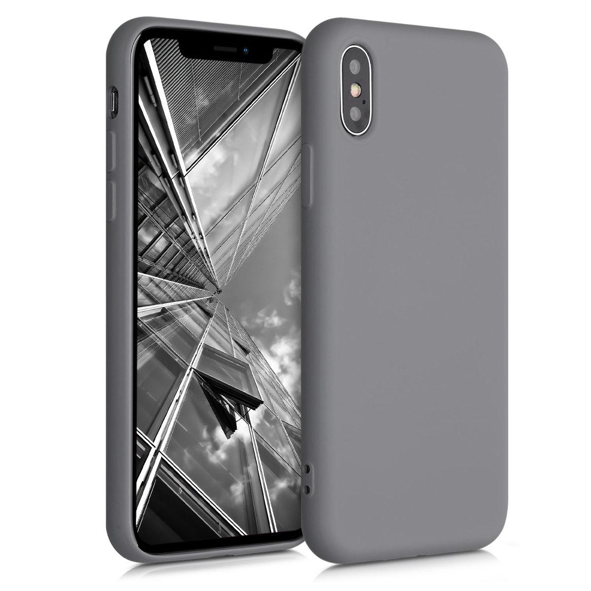 Kvalitní silikonové TPU pouzdro pro Apple iPhone X - Titanium Gray
