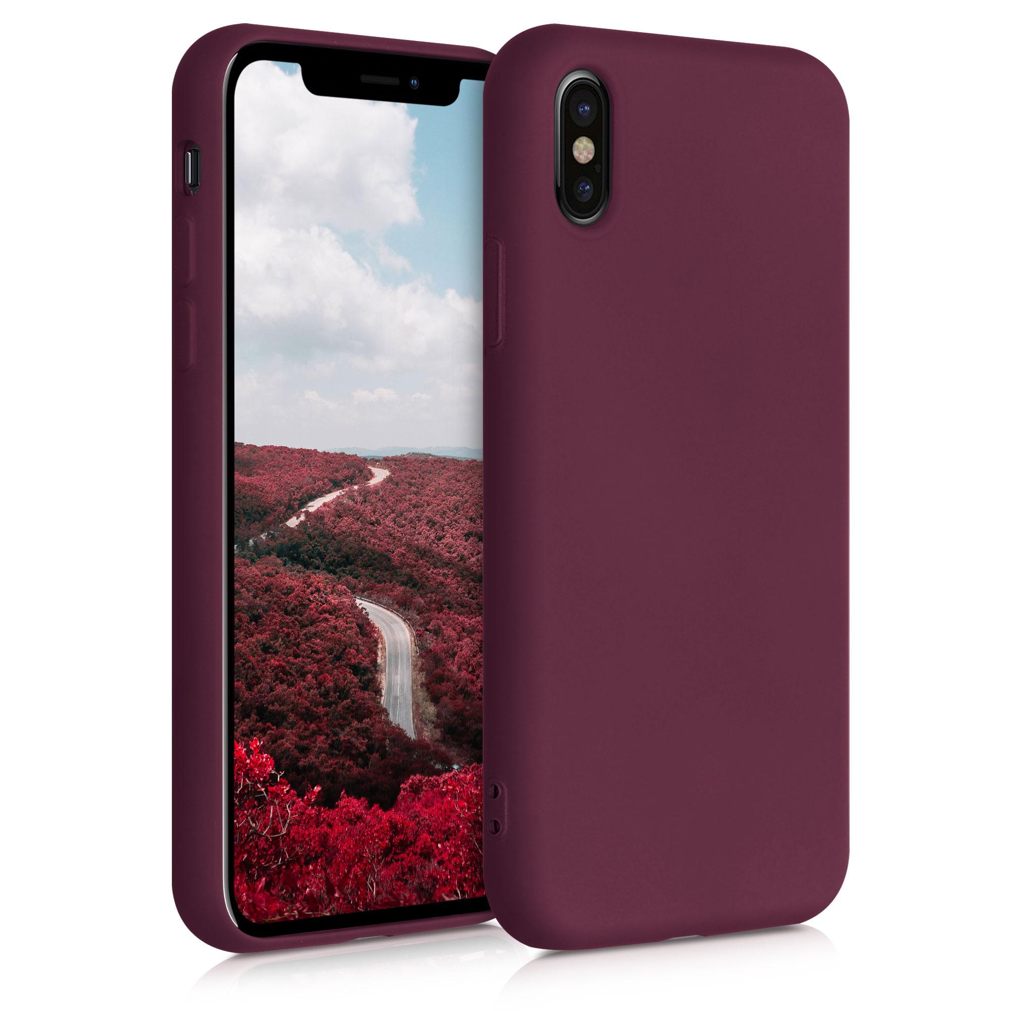 Kvalitní silikonové TPU pouzdro pro Apple iPhone X - Tawny Red