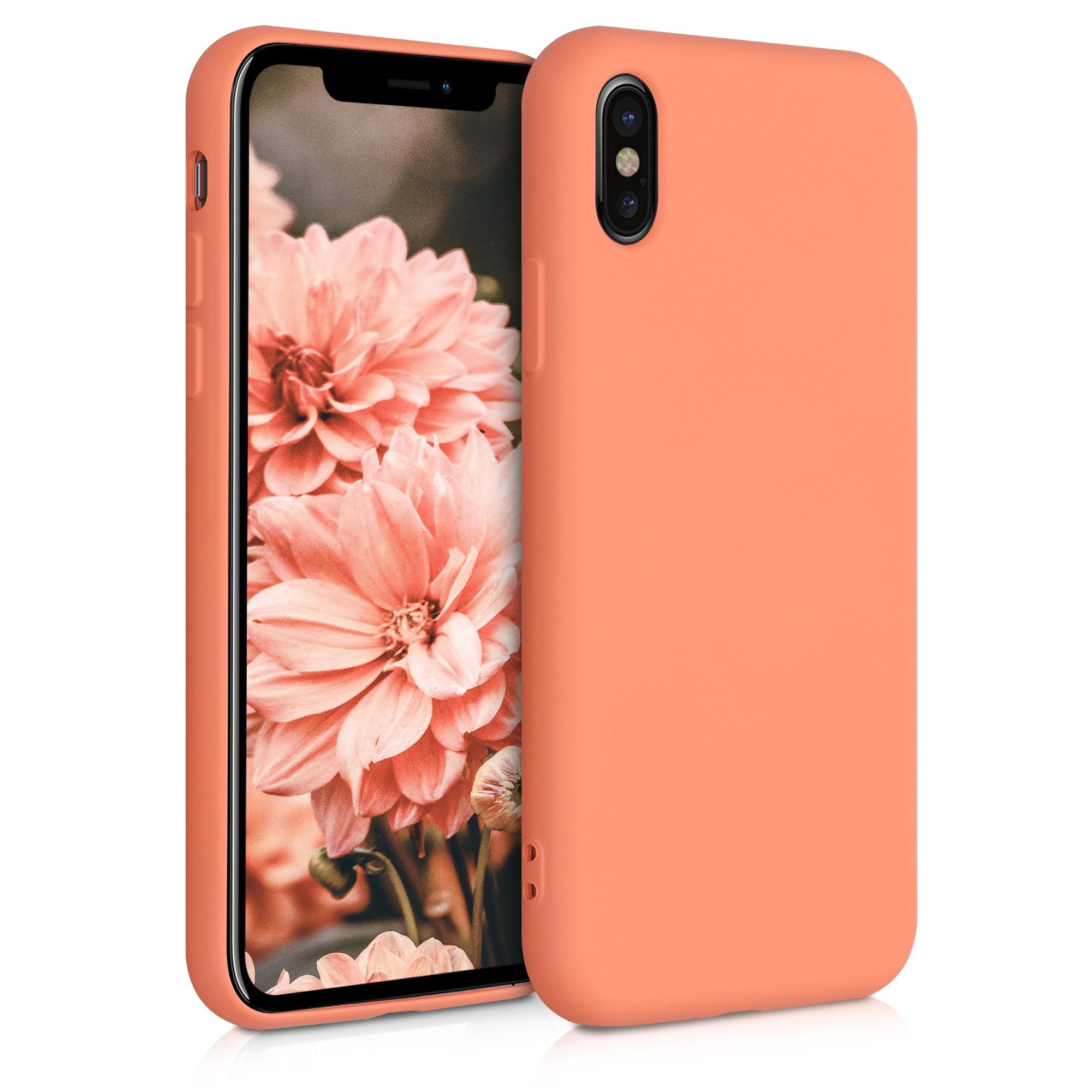 Kvalitní silikonové TPU pouzdro pro Apple iPhone X - Sunrise Orange