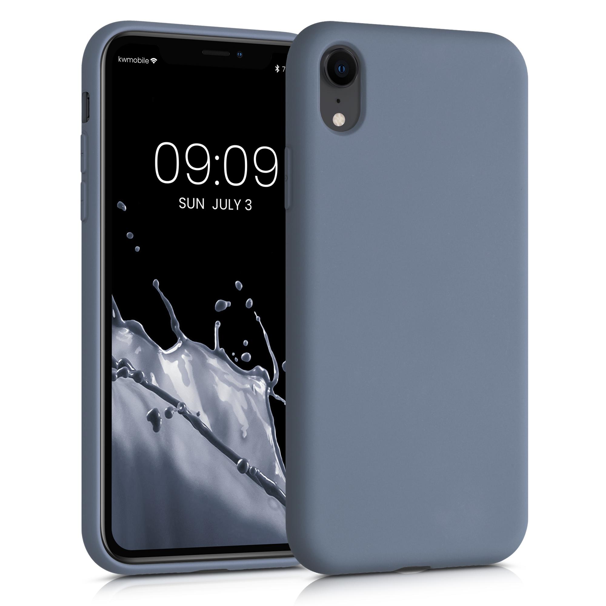 Kvalitní silikonové TPU pouzdro pro Apple iPhone XR - modrá Šedá