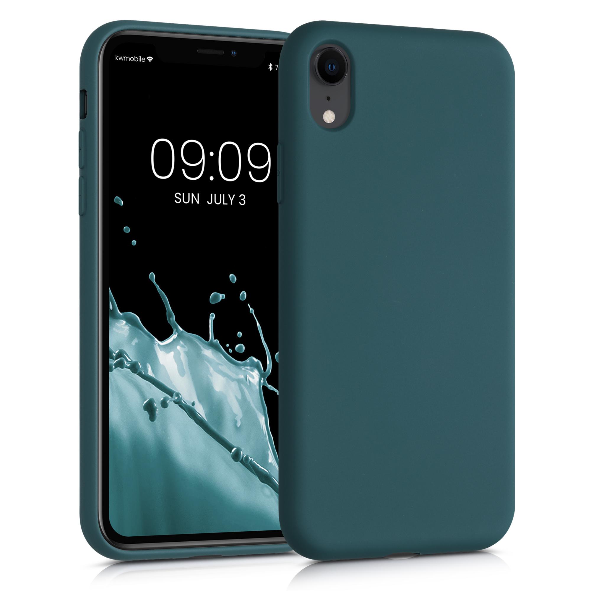 Kvalitní silikonové TPU pouzdro pro Apple iPhone XR - Teal Matte