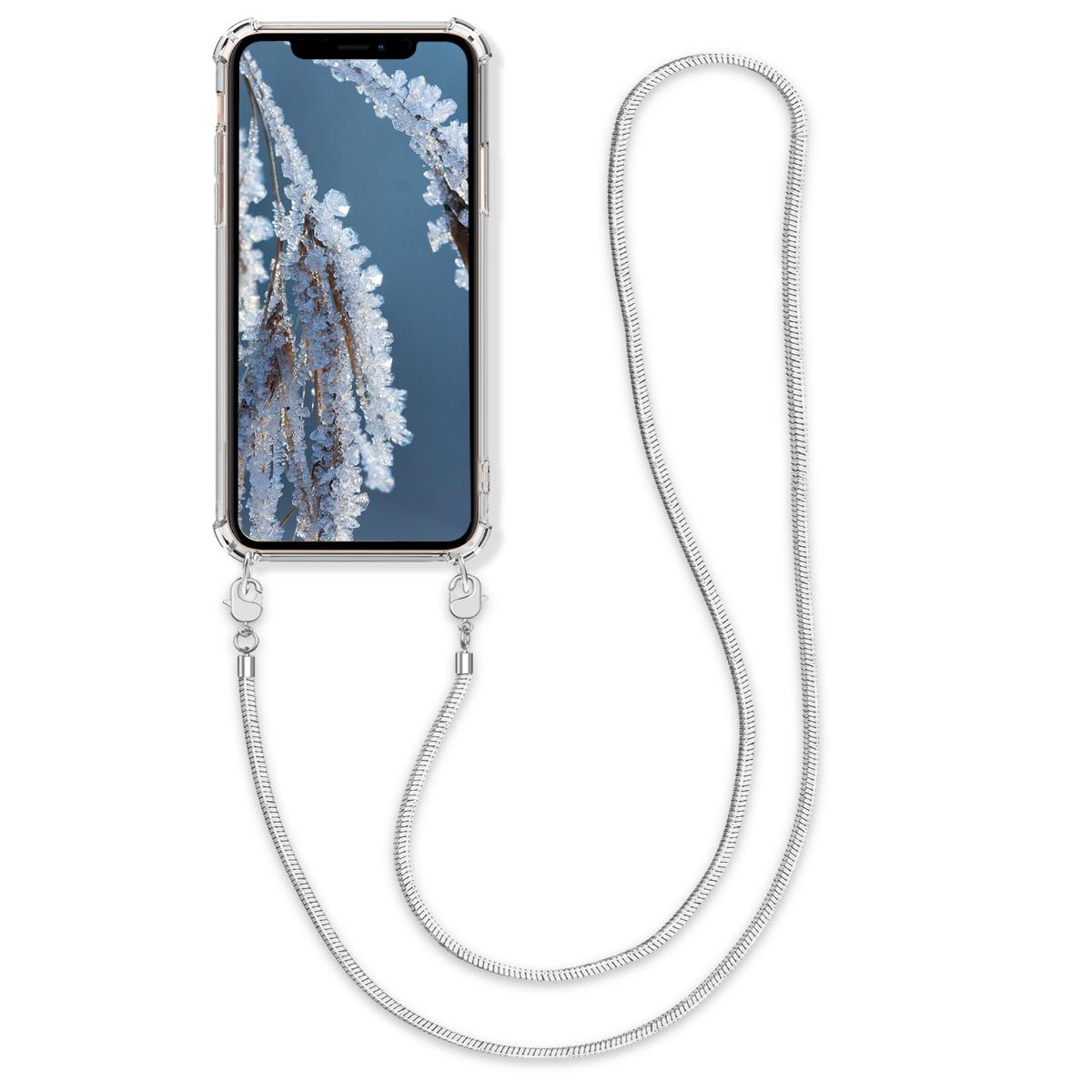 Kvalitní silikonové TPU pouzdro pro Apple iPhone XS - Transparent | Silver