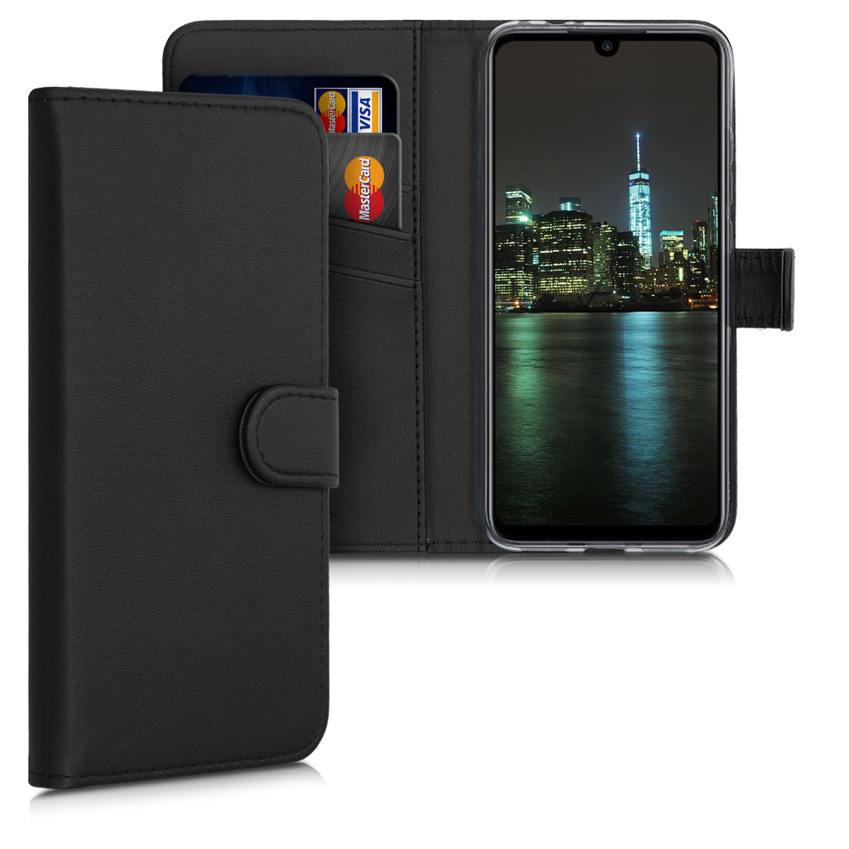 Kožené pouzdro | obal pro Xiaomi Redmi Note 7 | Note 7 Pro - černý