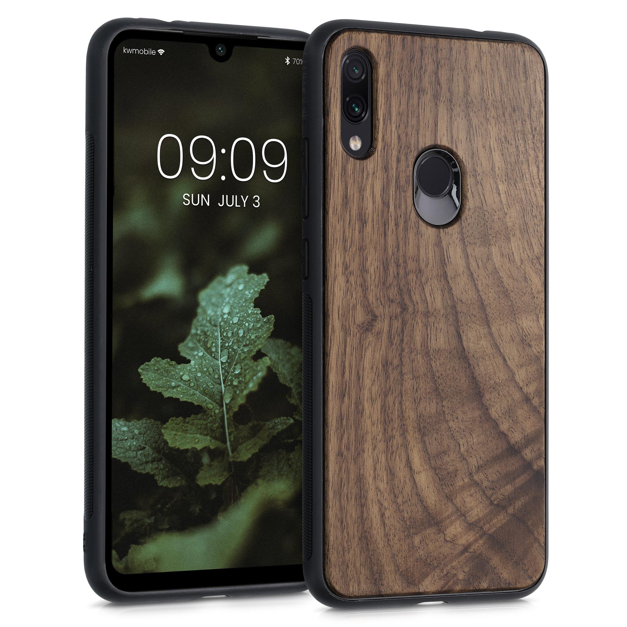 Dřevěné pouzdro | obal pro Xiaomi Redmi Note 7 | Note 7 Pro - Tmavě hnědá