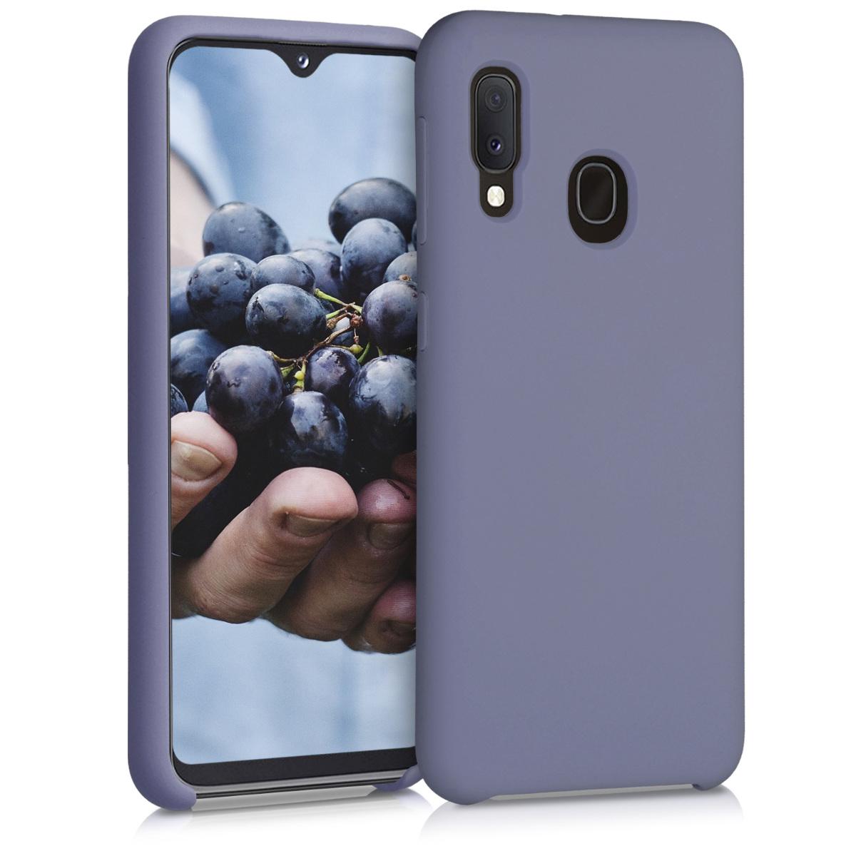 Kvalitní silikonové TPU pouzdro pro Samsung A20e - matné Lavender šedé