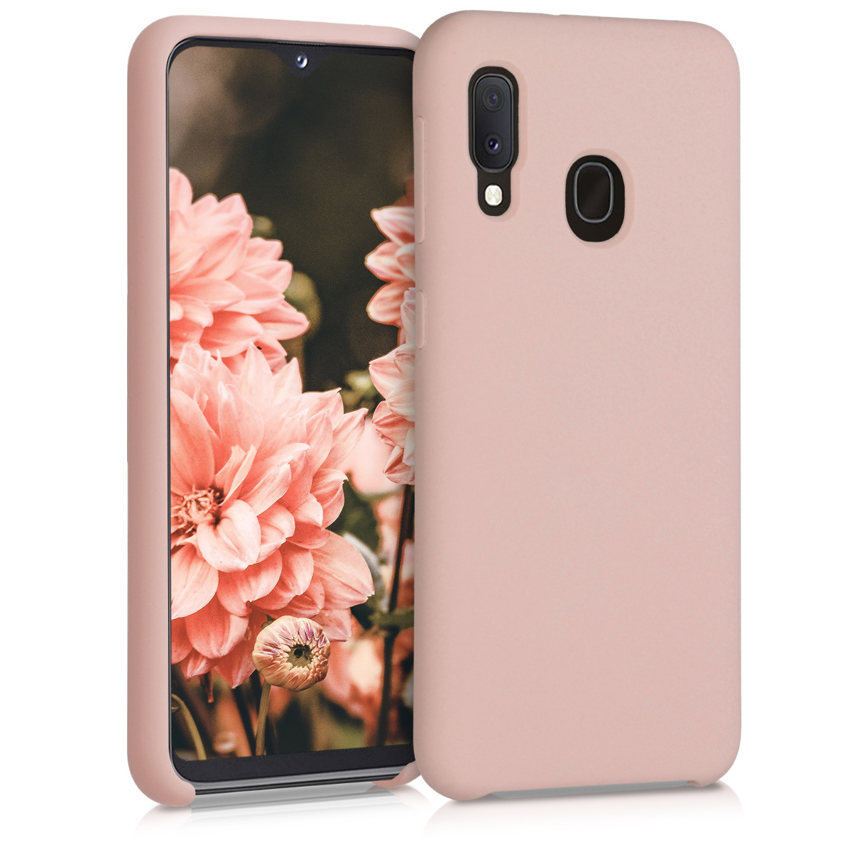 Kvalitní silikonové TPU pouzdro pro Samsung A20e - Antique růžové matné