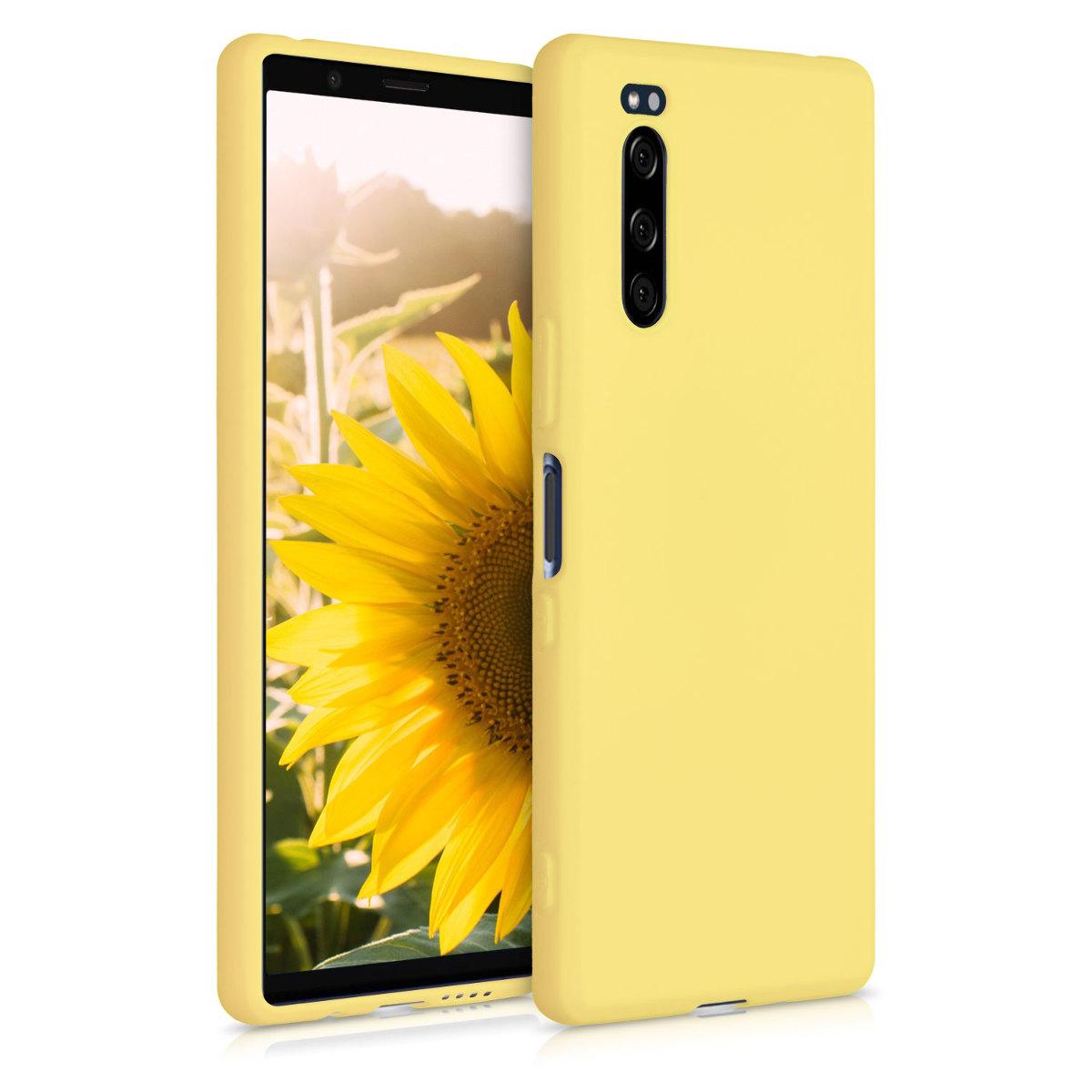 Kvalitní silikonové TPU pouzdro | obal pro Sony Xperia 5 - žluté matné