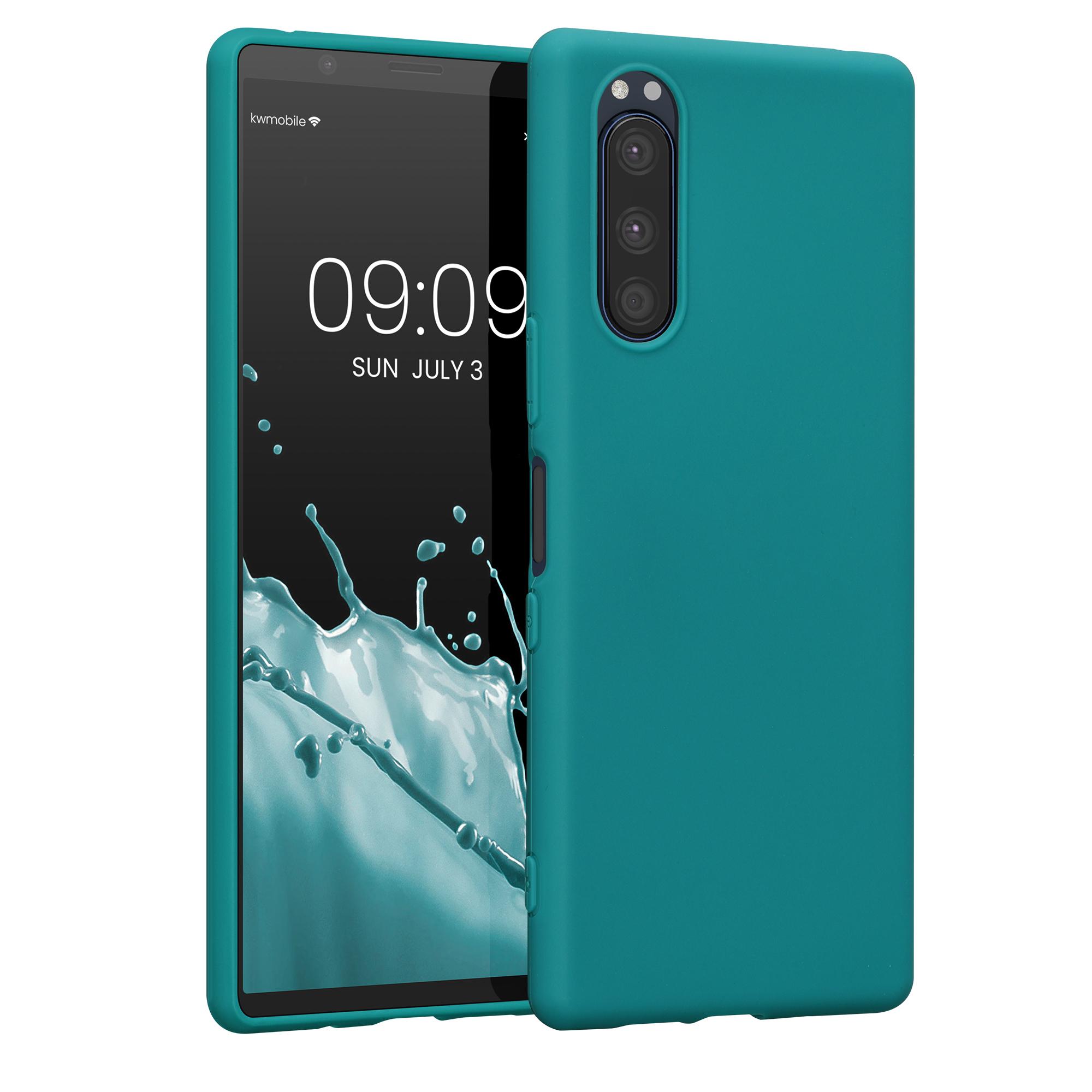 Kvalitní silikonové TPU pouzdro | obal pro Sony Xperia 5 - tmavě modré matné