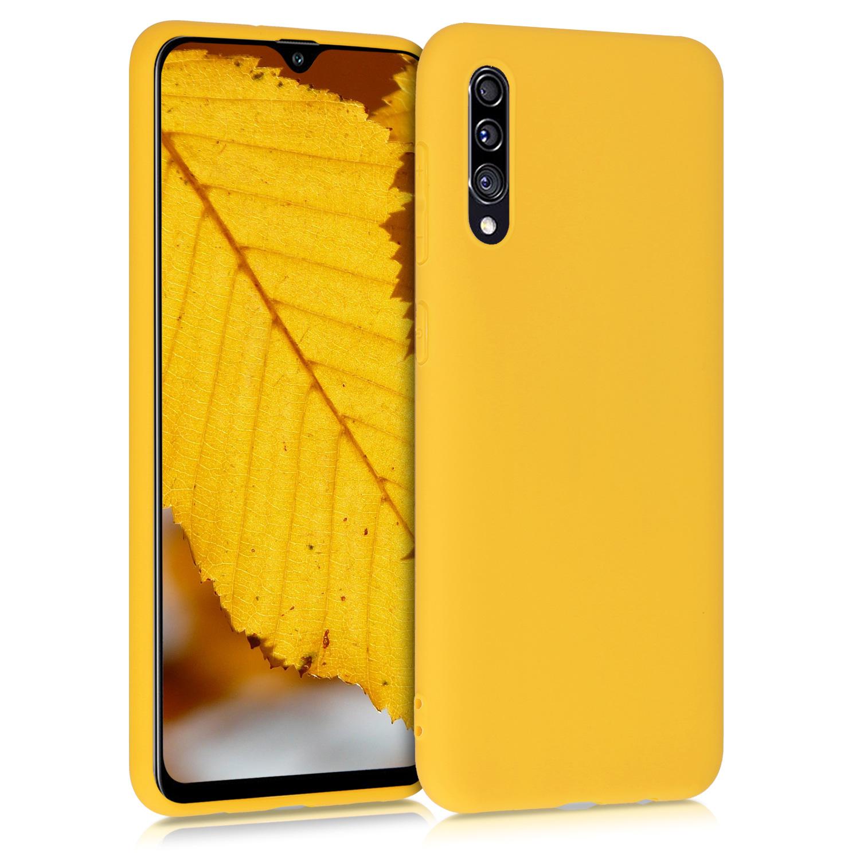 Kvalitní silikonové TPU pouzdro pro Samsung A30s - medově žluté