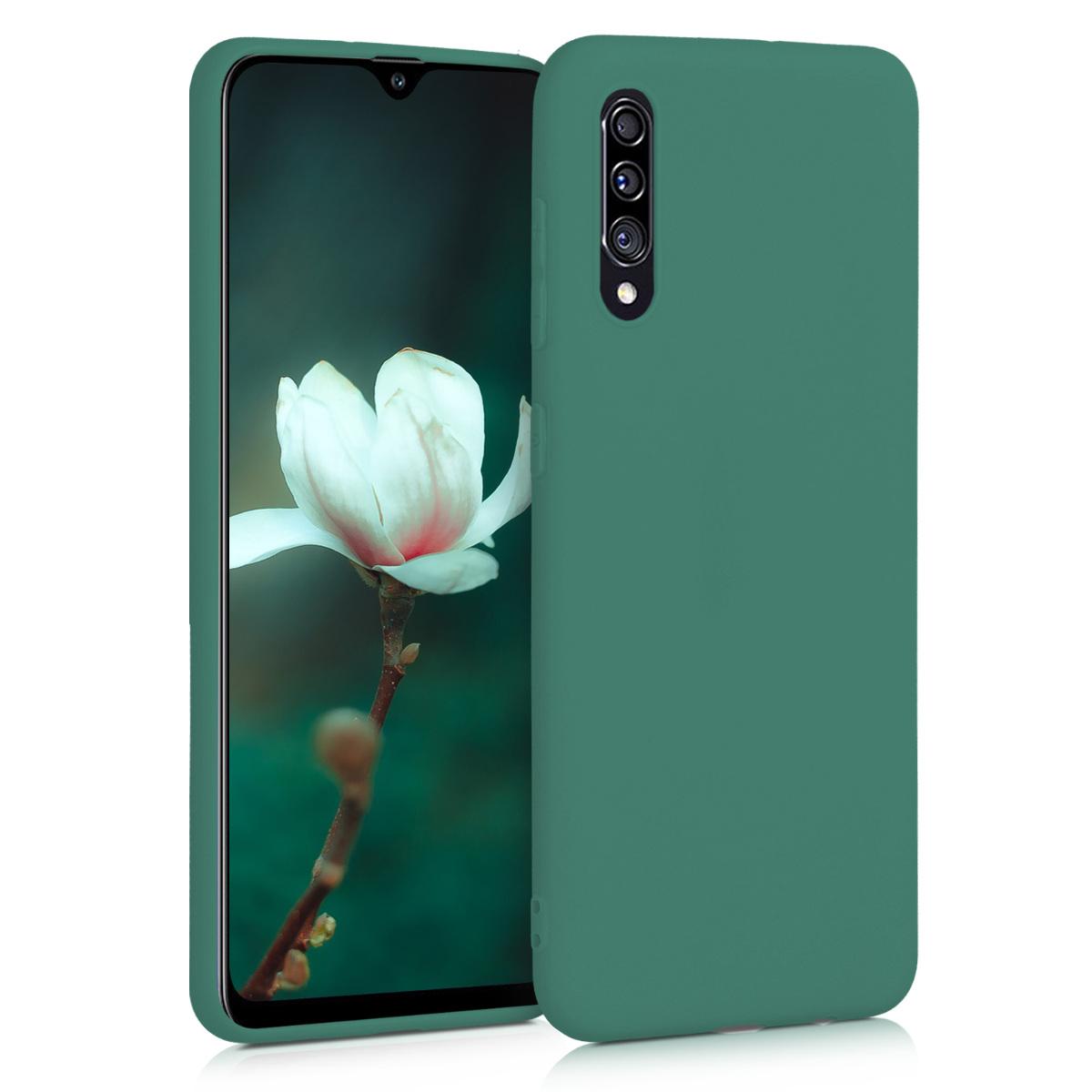 Kvalitní silikonové TPU pouzdro pro Samsung A30s - lesní zelené