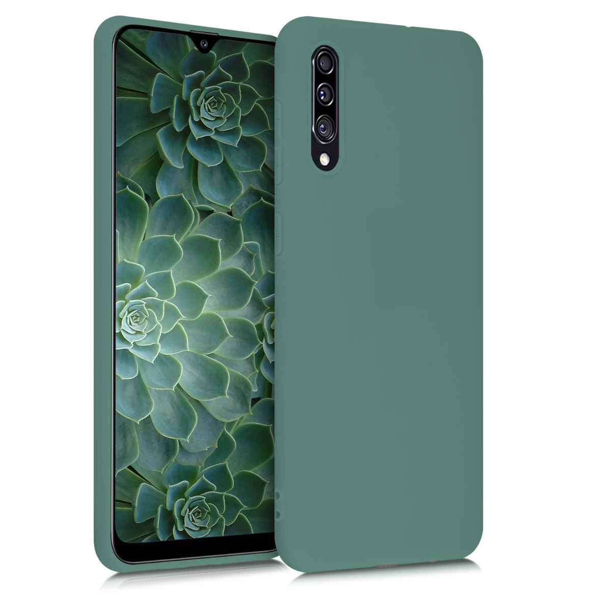 Kvalitní silikonové TPU pouzdro pro Samsung A30s - modré zelená