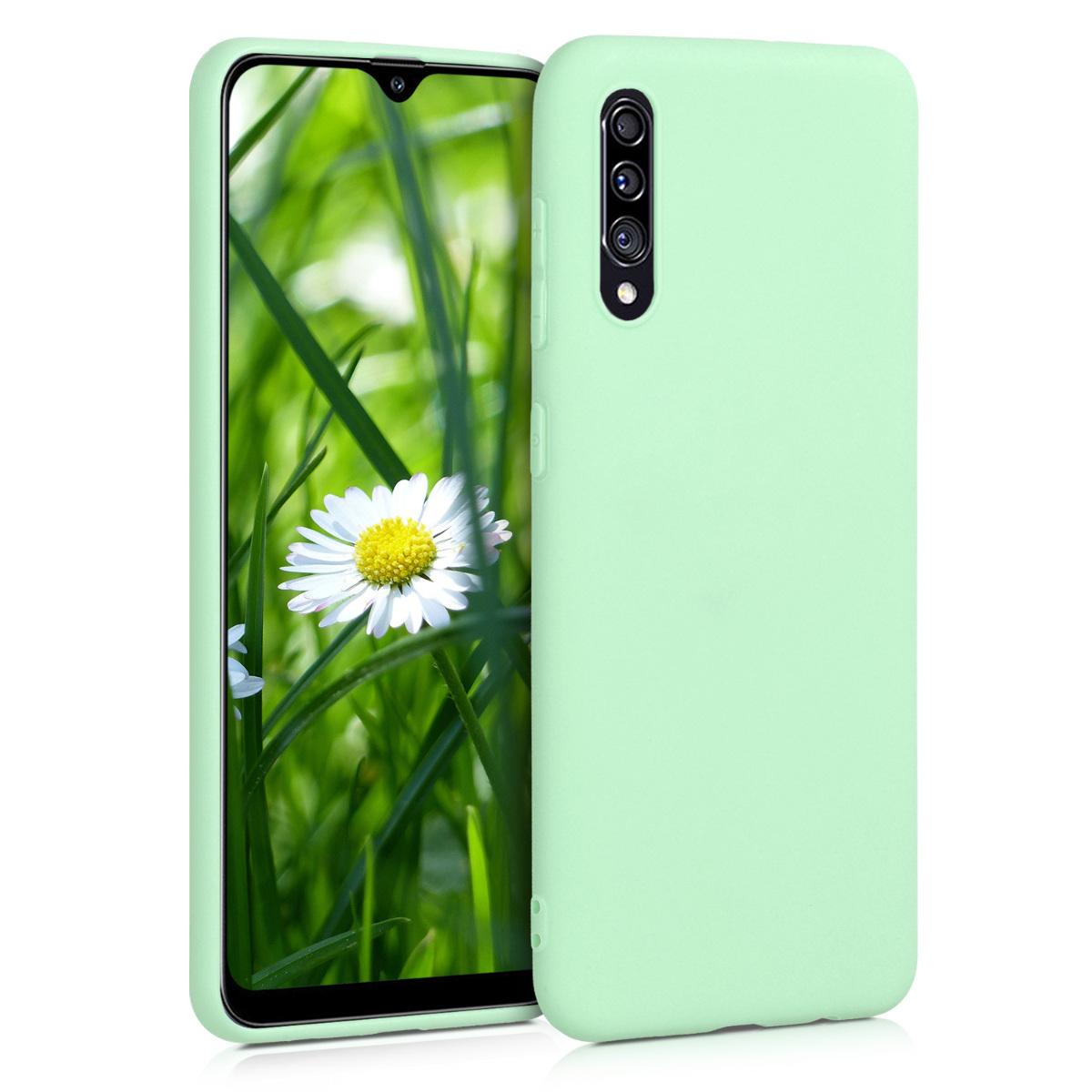 Kvalitní silikonové TPU pouzdro pro Samsung A30s - pastelové zelené
